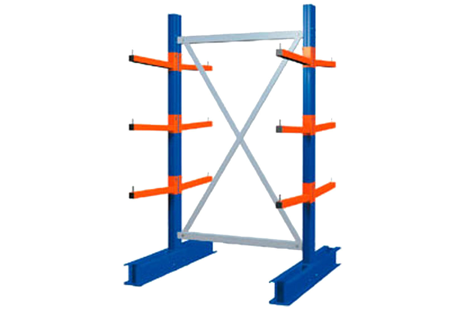 Heavy Duty Double Sided Cantilever Racking Starter Bay