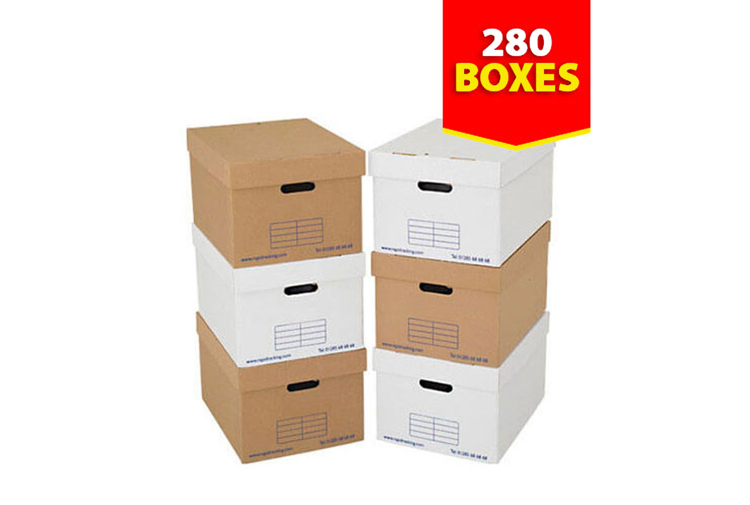 Archive Storage Boxes (280 Pack)