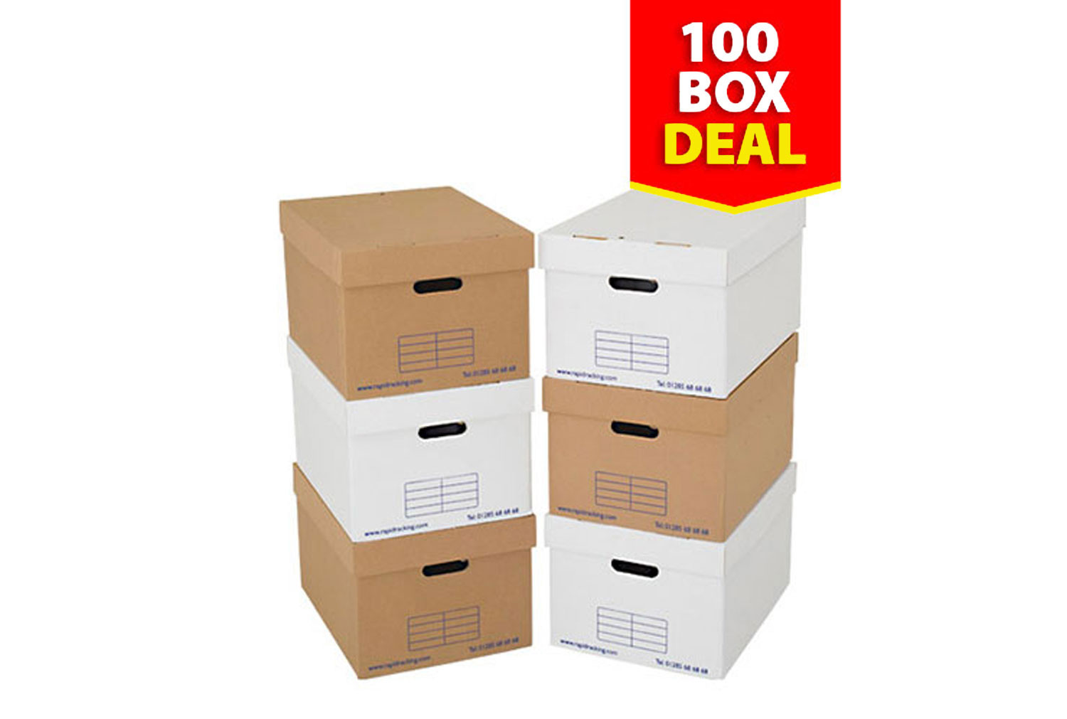 Archive Storage Boxes (100 Pack)