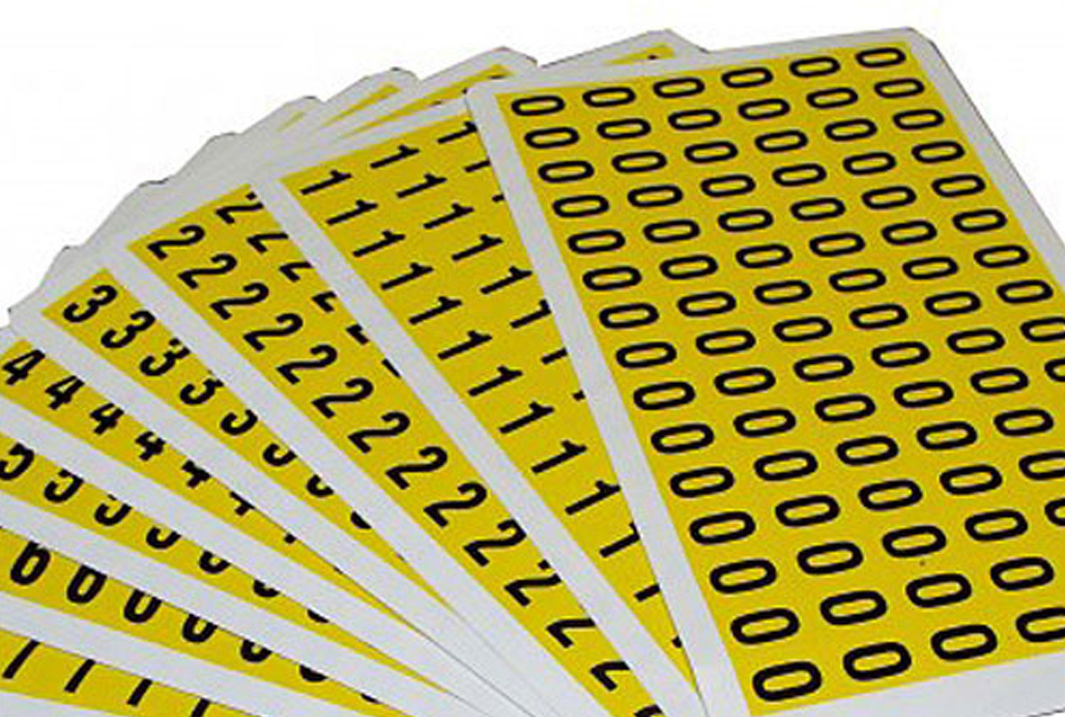 Self Adhesive Numbers 12.5mm High (Pack Of 90)