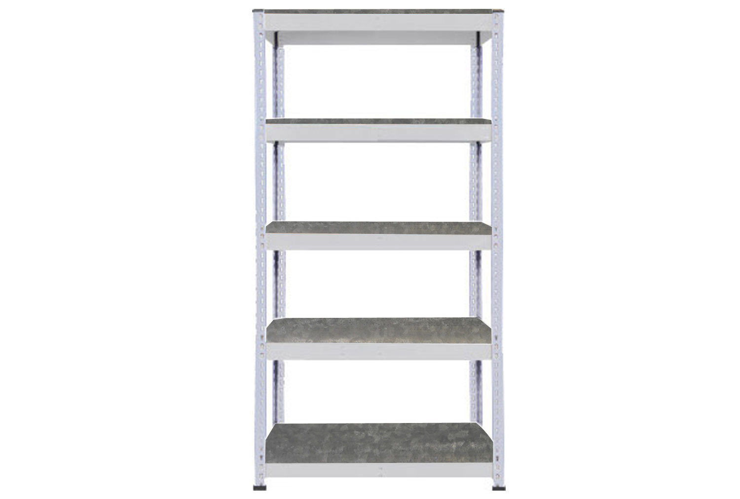 Rapid 1 Heavy Duty Shelving With 5 Galvanized Shelves 915wx1980h (Grey)