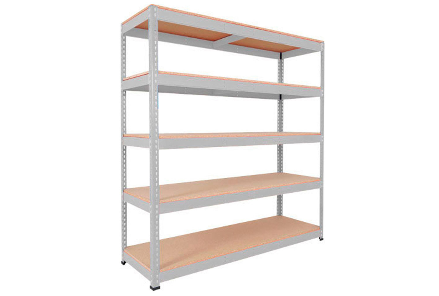 Rapid 1 Heavy Duty Shelving With 5 Chipboard Shelves 1220wx1980h (Grey)