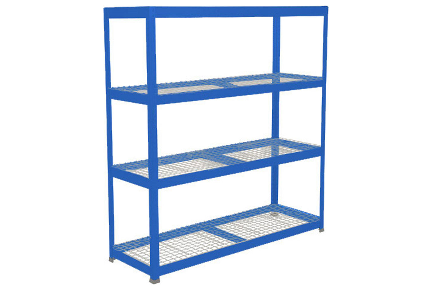 Rapid 1 Heavy Duty Shelving With 4 Wire Mesh Shelves 1830wx1980h (Blue)