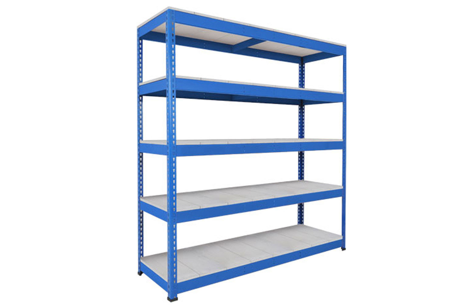 Rapid 1 Heavy Duty Shelving With 5 Galvanized Shelves 1830wx1980h (Blue)