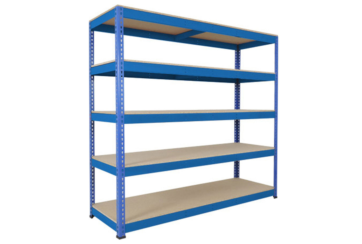 Rapid 1 Heavy Duty Shelving With 5 Chipboard Shelves 2134wx1980h (Blue)