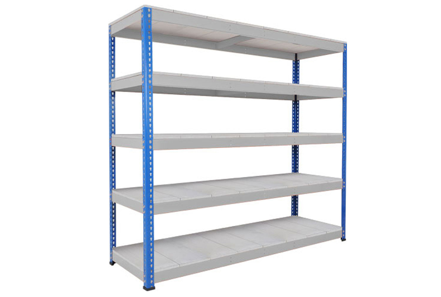 Rapid 1 Heavy Duty Shelving With 5 Galvanized Shelves 2440wx1980h (Blue/Grey)
