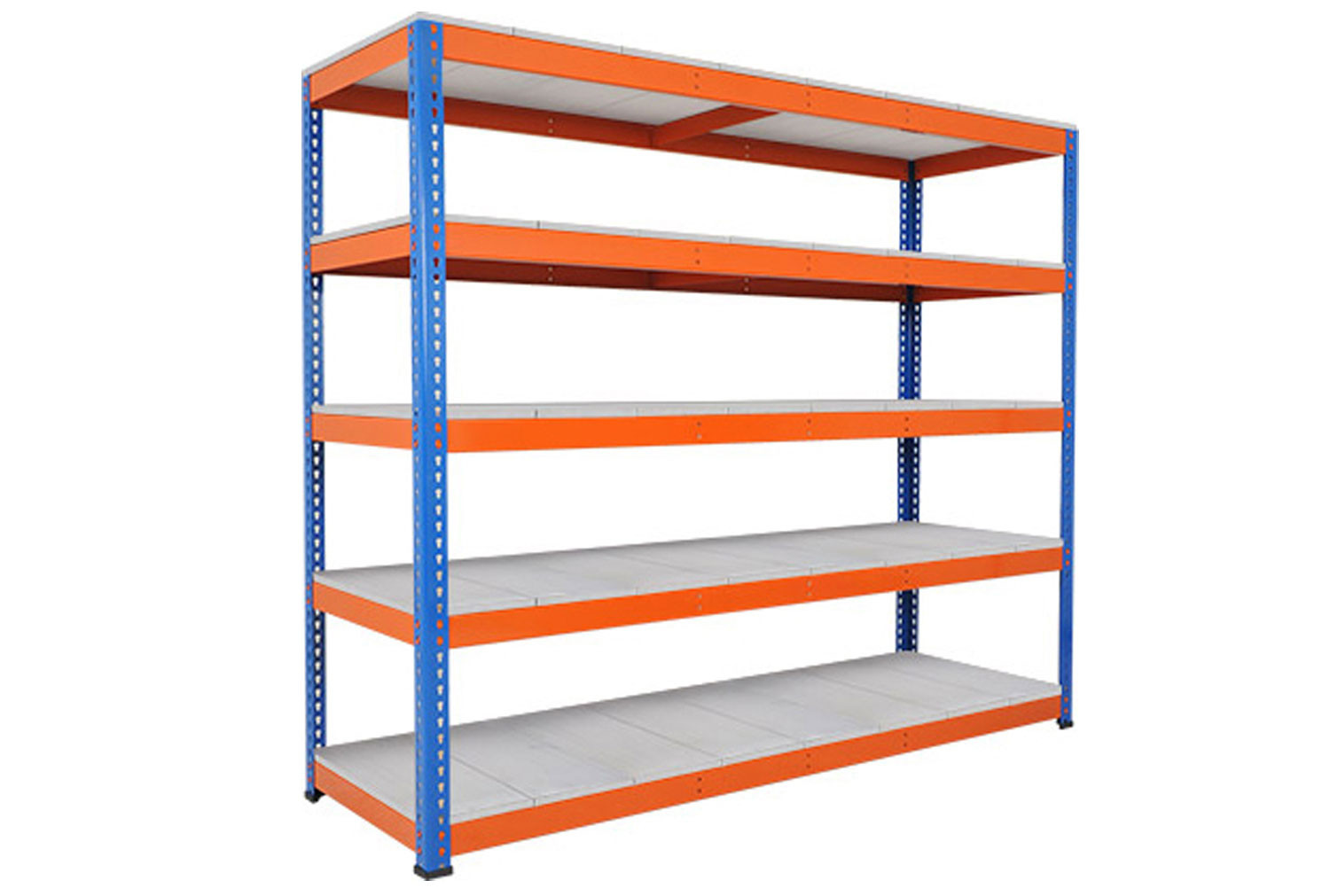 Rapid 1 Heavy Duty Shelving With 5 Galvanized Shelves 2440wx1980h (Blue/Orange)