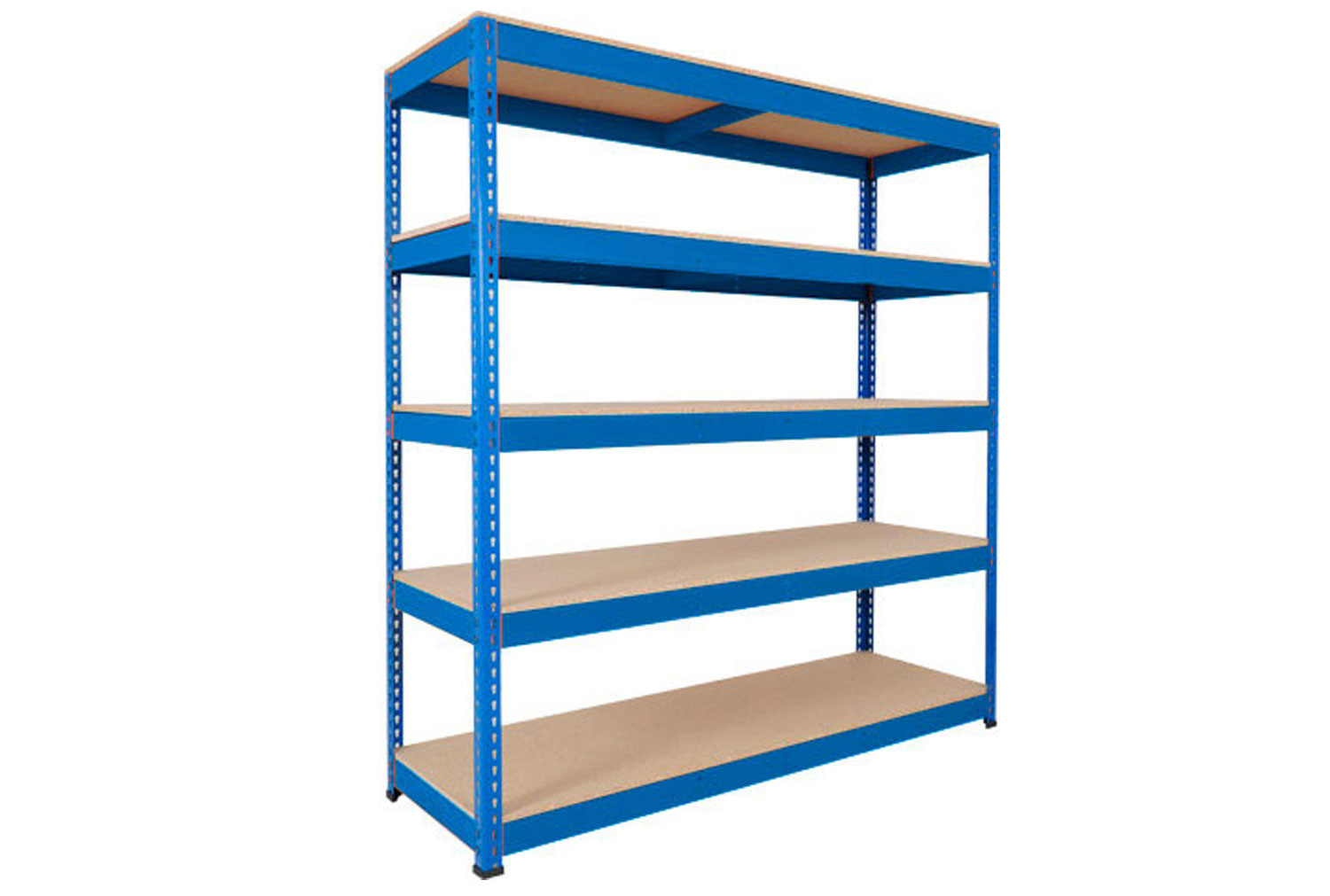 Rapid 1 Heavy Duty Shelving With 5 Chipboard Shelves 1525wx2440h (Blue)