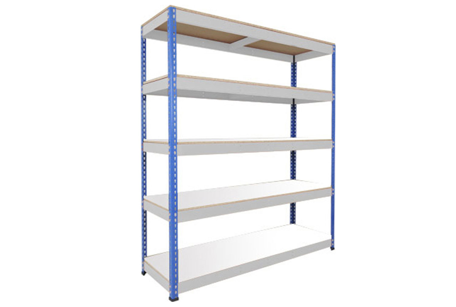 Rapid 1 Heavy Duty Shelving With 5 Melamine Shelves 1830wx2440h (Blue/Grey)