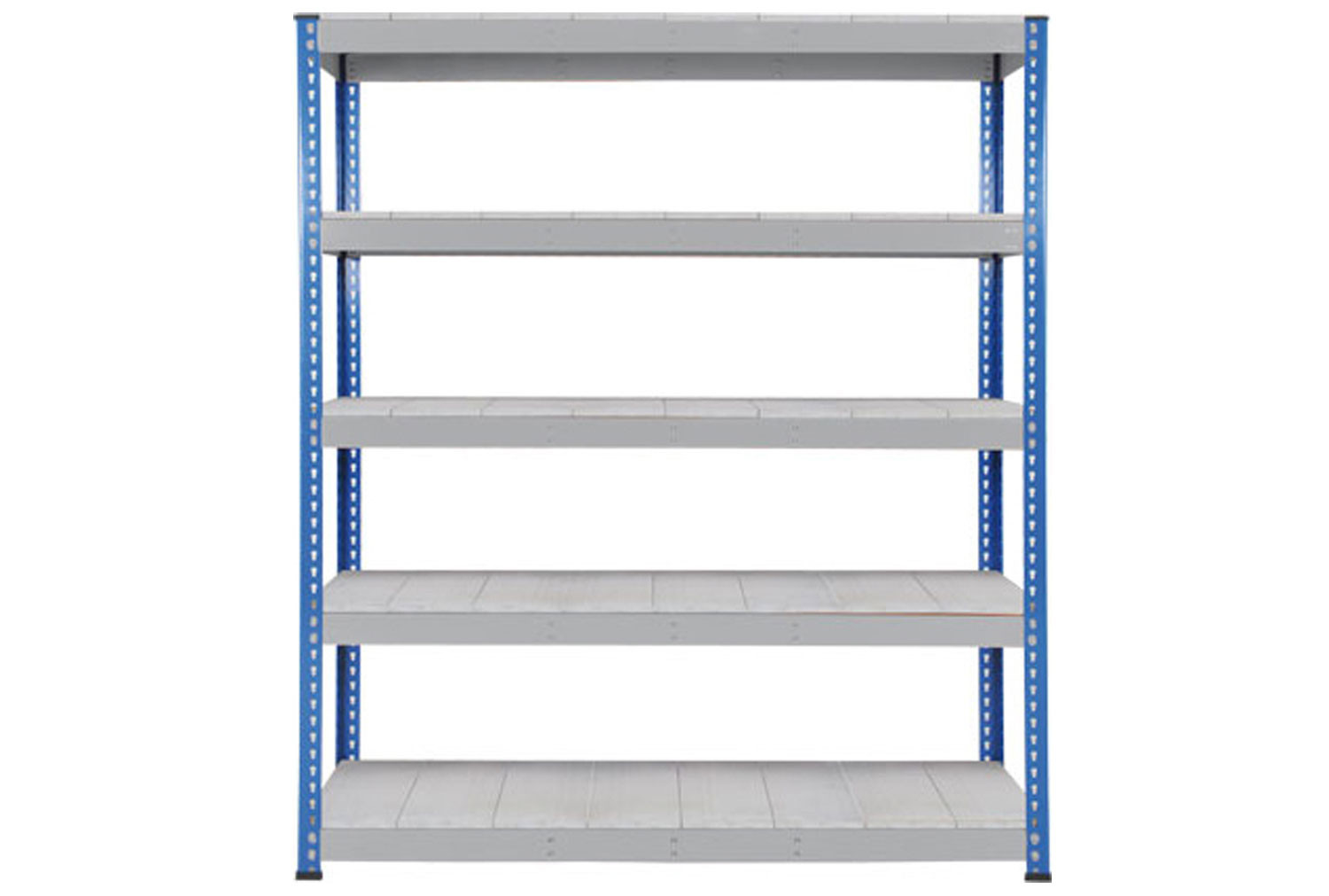 Rapid 1 Heavy Duty Shelving With 5 Galvanized Shelves 1525wx2440h (Blue/Grey)