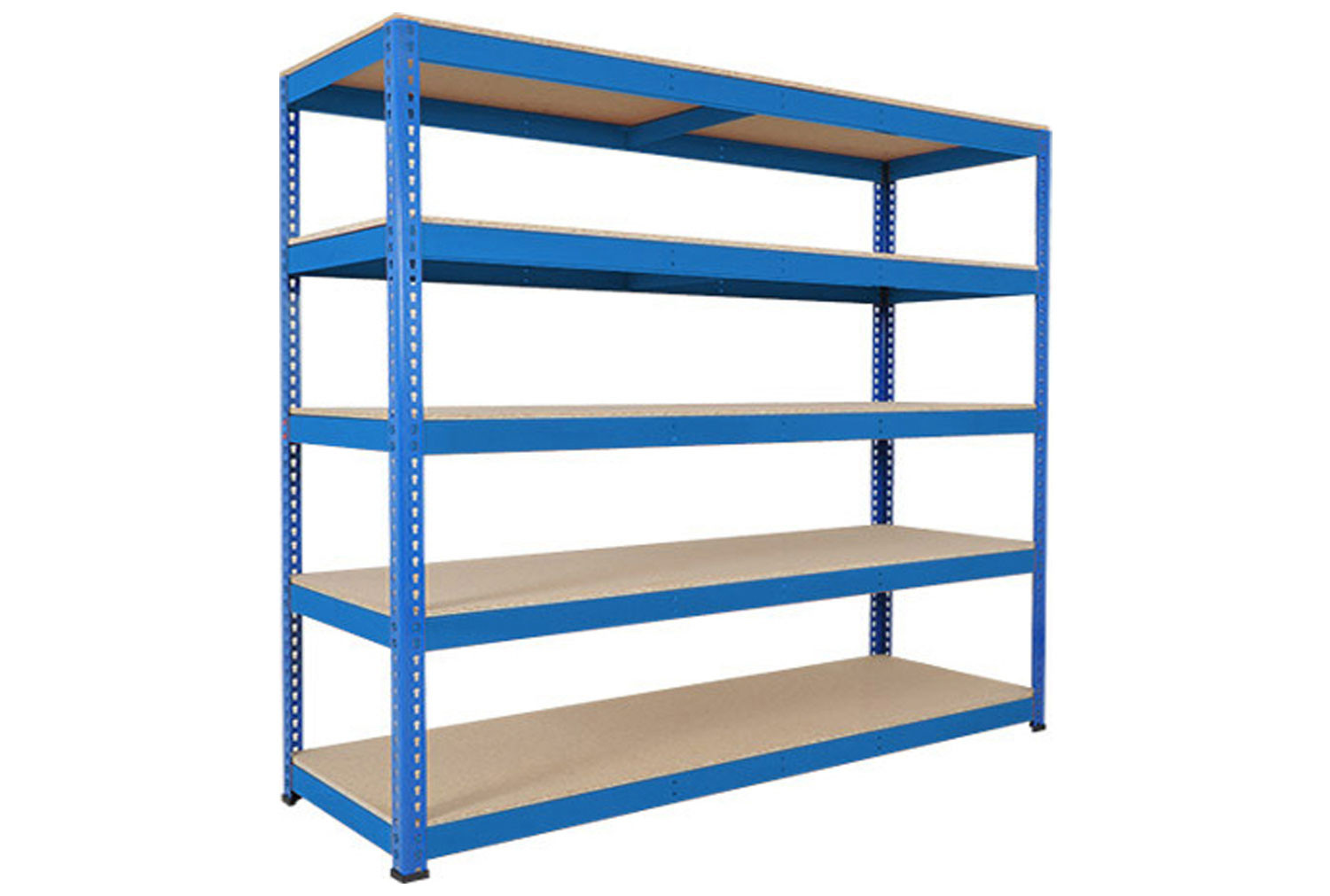 Rapid 1 Heavy Duty Shelving With 5 Chipboard Shelves 2440wx2440h (Blue)
