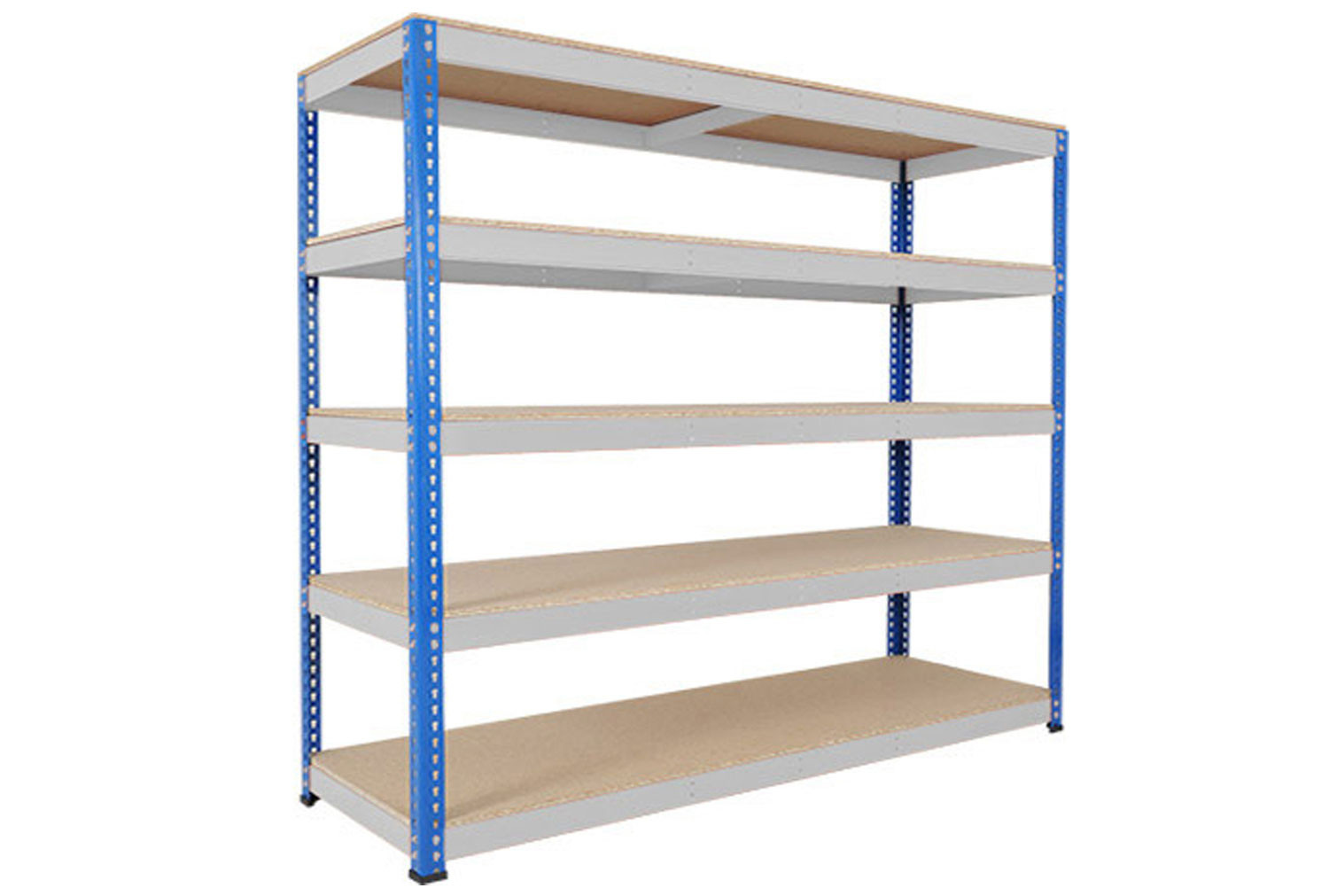Rapid 1 Heavy Duty Shelving With 5 Chipboard Shelves 2134wx2440h (Blue/Grey)