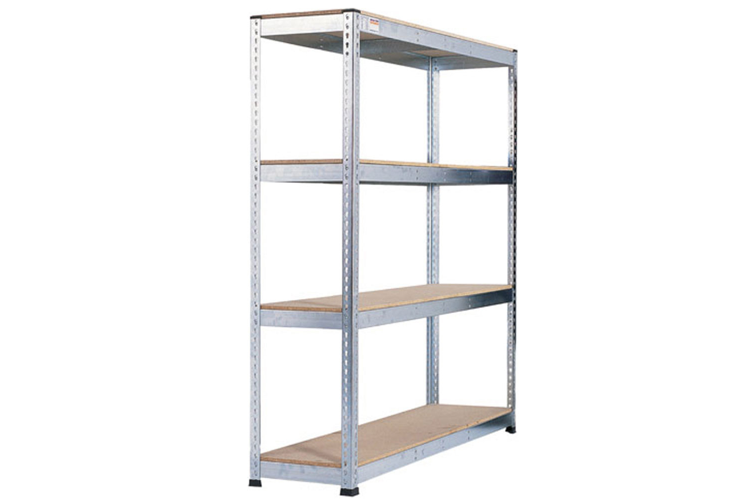 Rapid 1 Heavy Duty Galvanized Shelving With 4 Chipboard Shelves 2440wx1980h