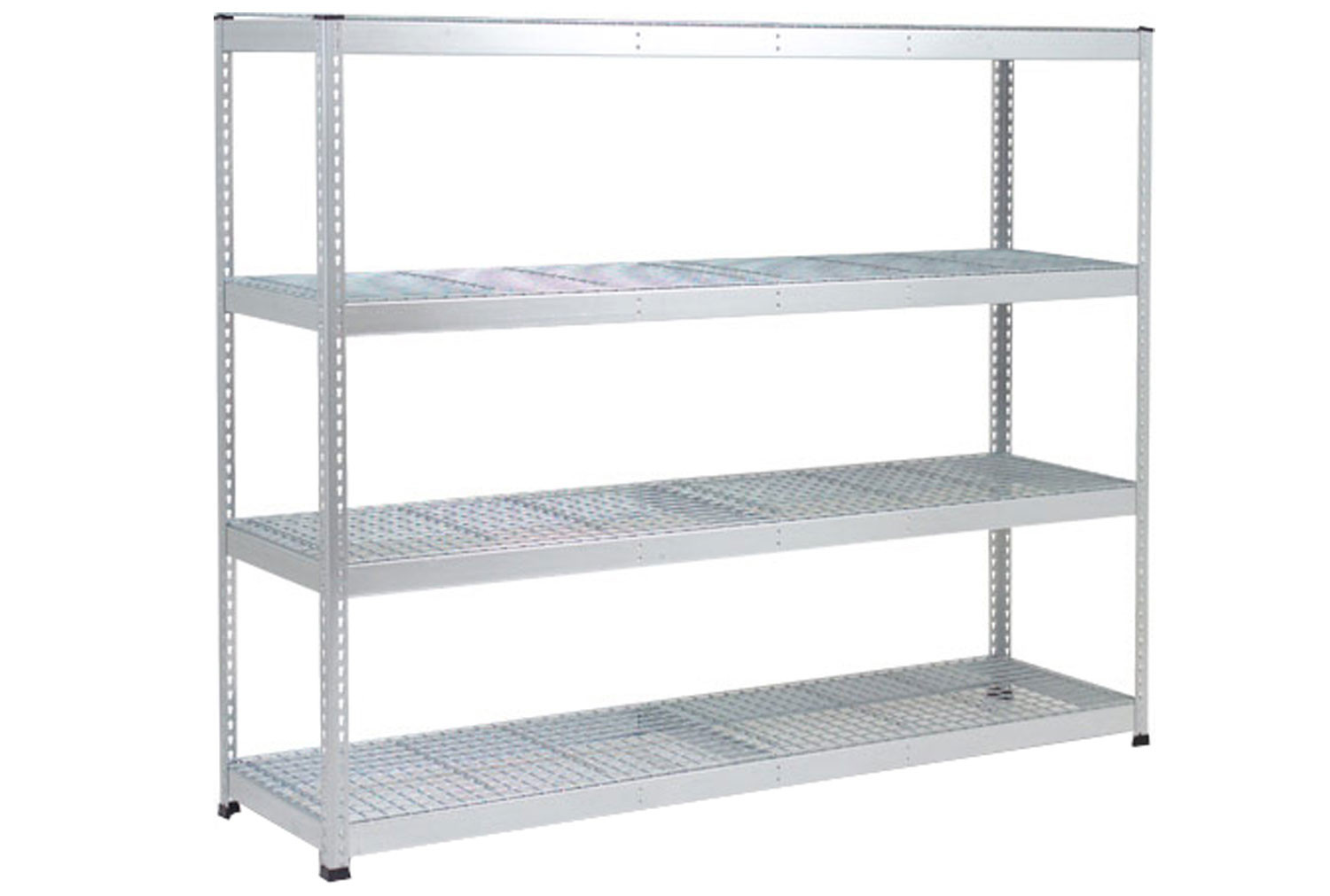 Rapid 1 Heavy Duty Galvanized Shelving With 4 Wire Mesh Shelves 2440wx1980h