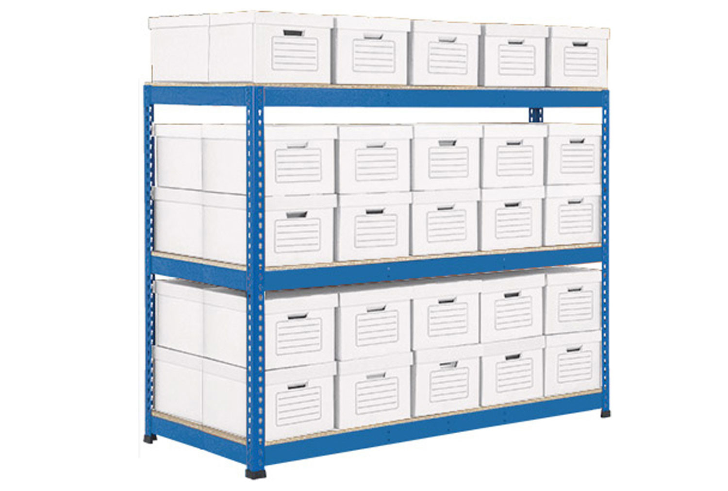 Rapid 1 Double Sided Archive Storage Unit With 50 Boxes (Blue)