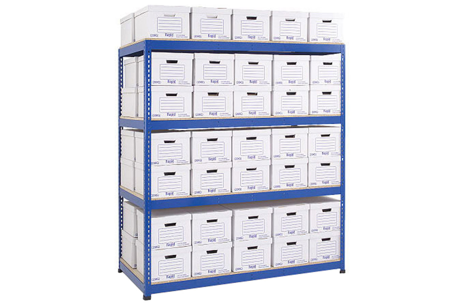 Rapid 1 Double Sided Archive Storage Unit With 70 Boxes