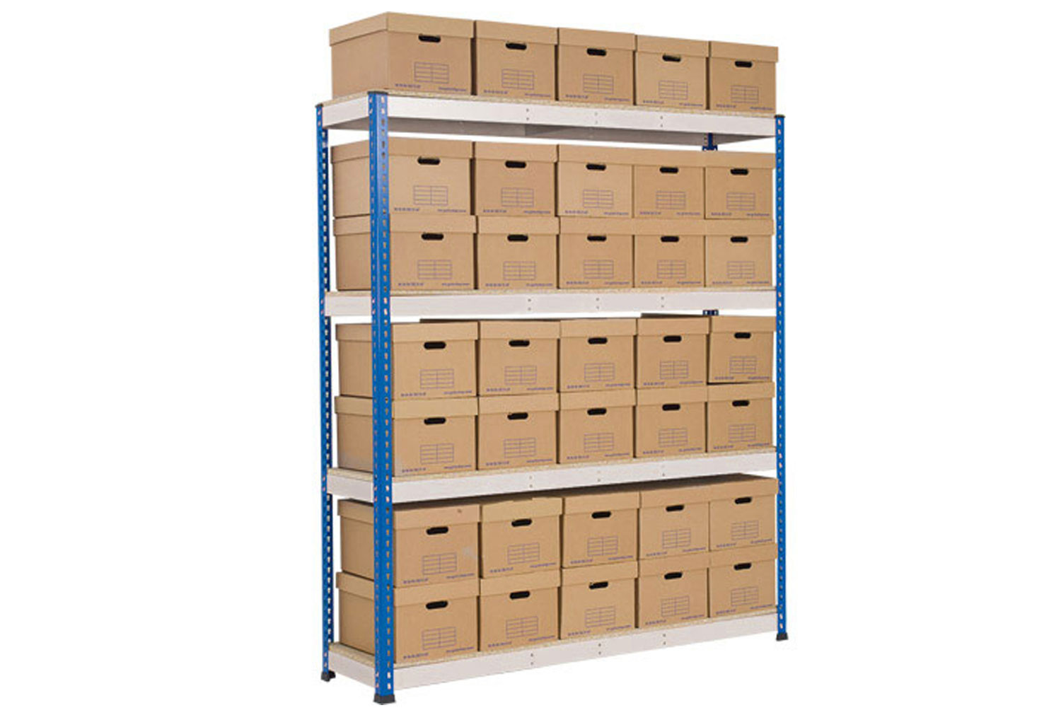 Rapid 1 Single Sided Archive Storage Unit With 35 Boxes