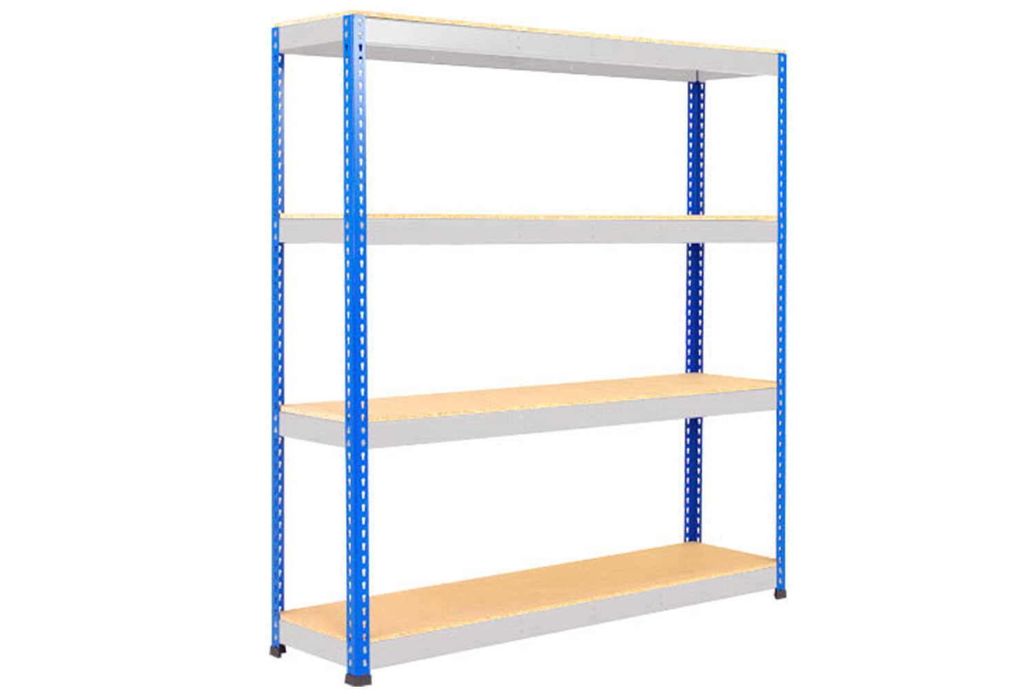 Rapid 1 Standard Shelving With 4 Chipboard Shelves 1830wx1980h (Blue/Grey)