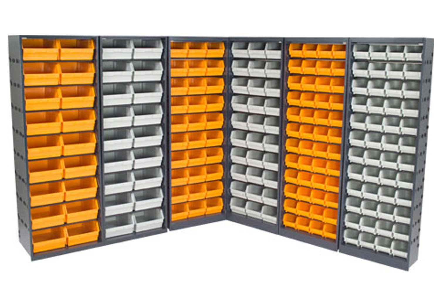 Full Height Open Fronted Budget Picking Bin Cupboards