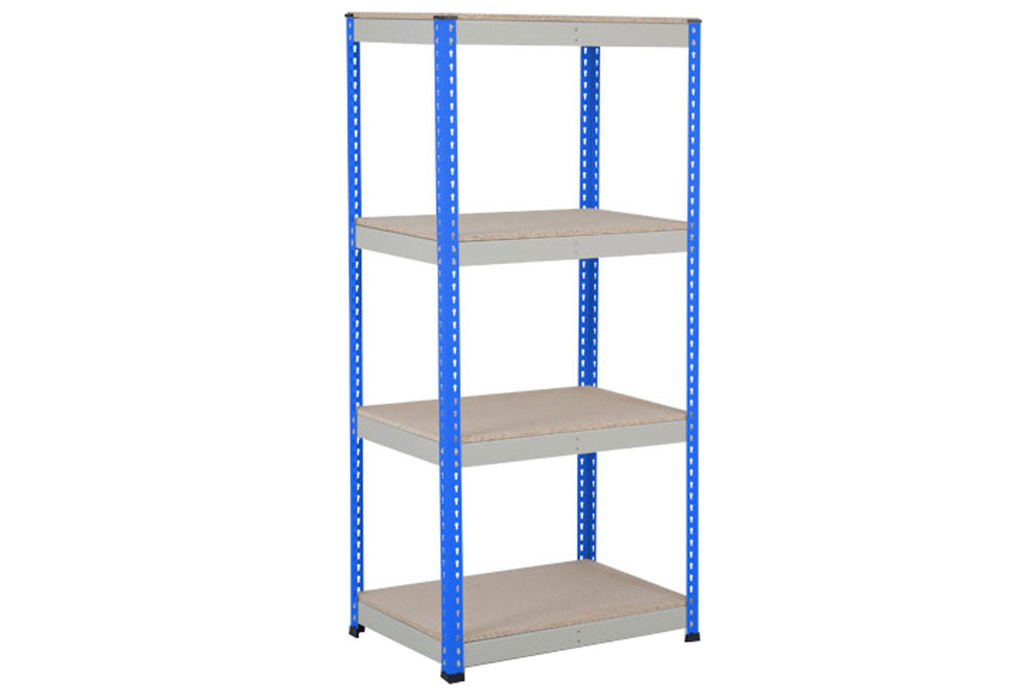 Rapid 1 Heavy Duty Shelving With 4 Chipboard Shelves 915wx1980h (Blue/Grey)