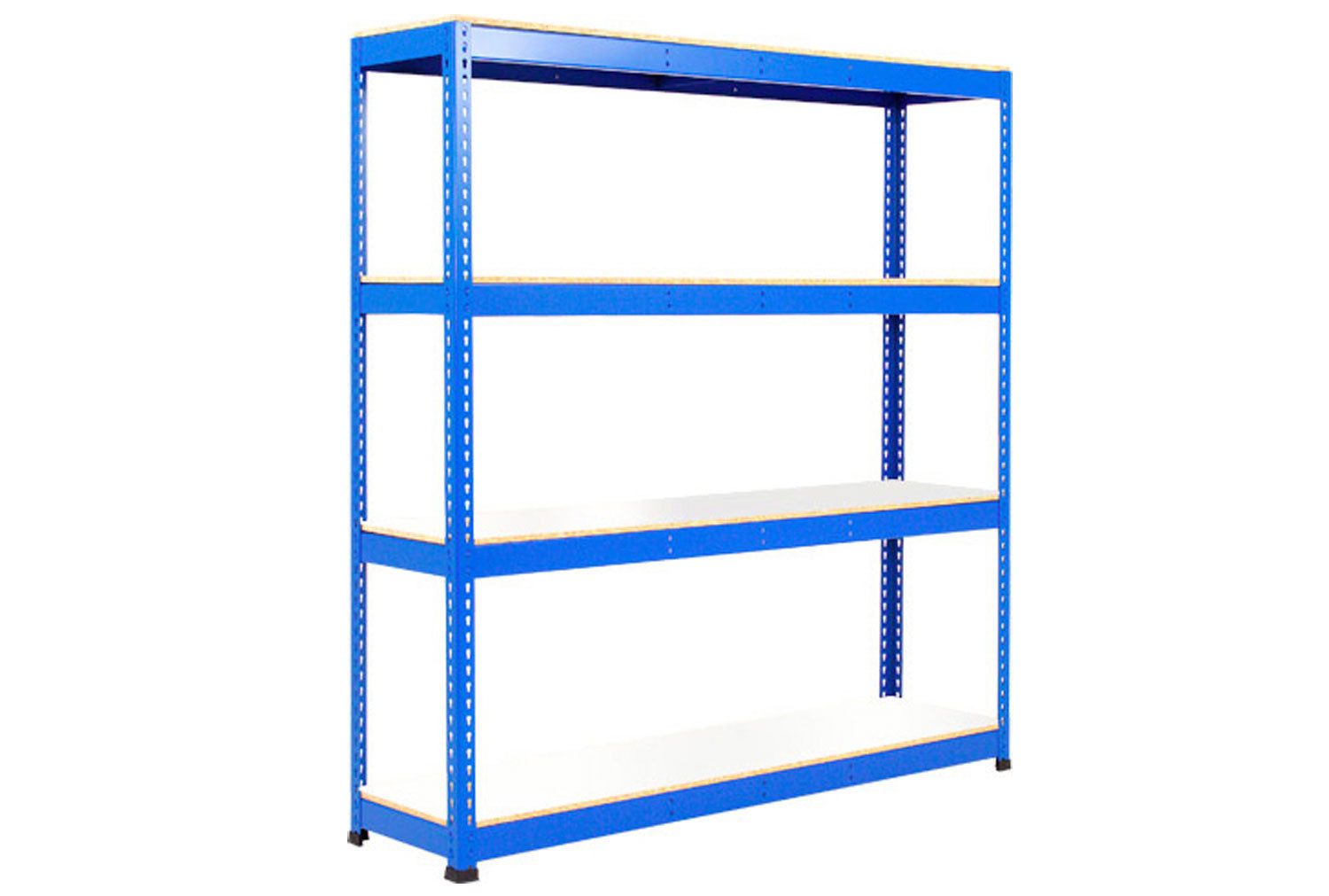 Rapid 1 Heavy Duty Shelving With 4 Melamine Shelves 1525wx1980h (Blue)