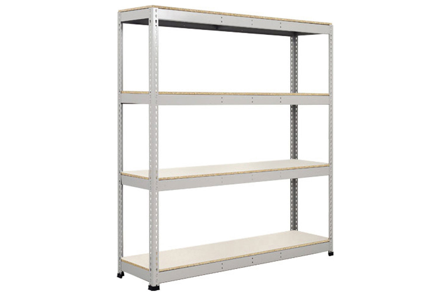 Rapid 1 Heavy Duty Shelving With 4 Melamine Shelves 1830wx1980h (Grey)