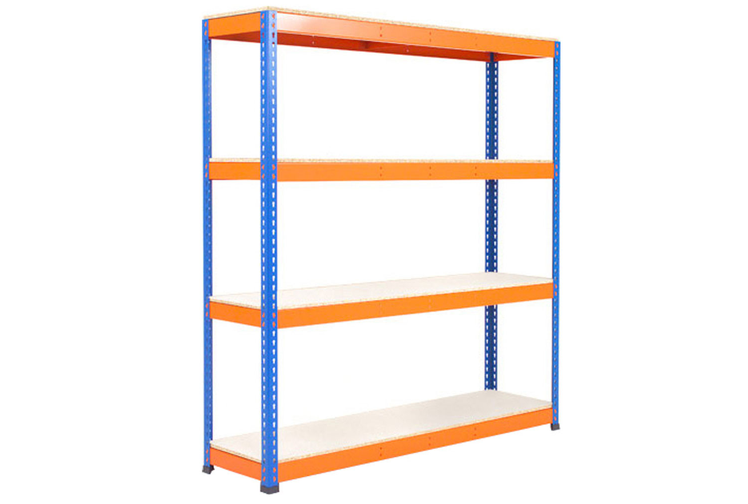 Rapid 1 Heavy Duty Shelving With 4 Melamine Shelves 1830wx1980h (Blue/Orange)