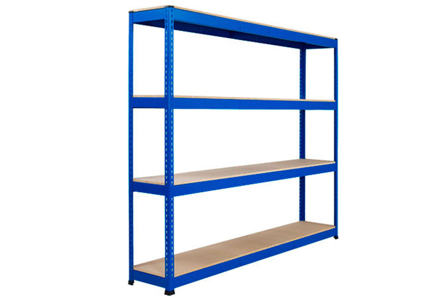 Rapid 1 Heavy Duty Shelving With 4 Chipboard Shelves 2134wx1980h (Blue)