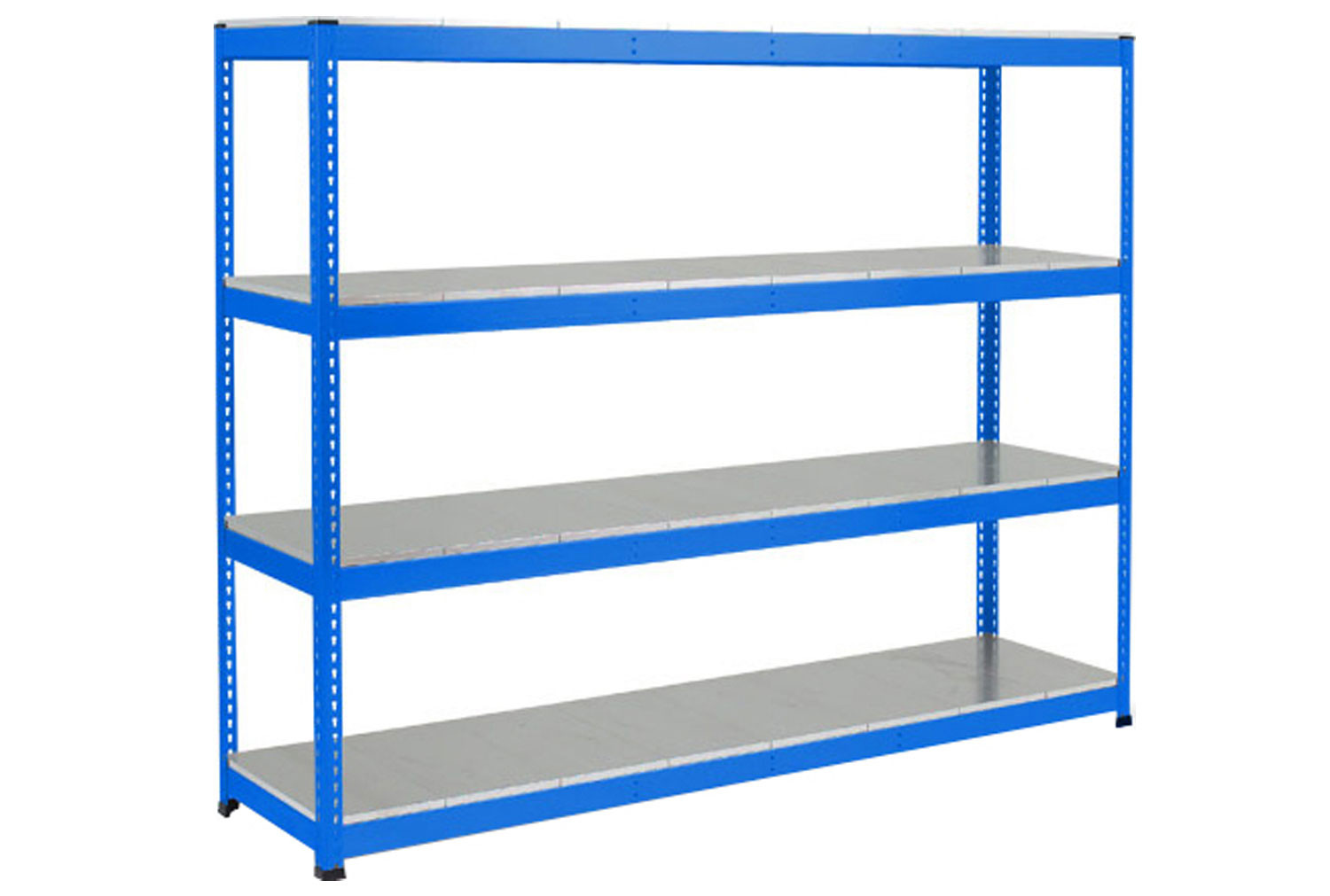 Rapid 1 Heavy Duty Shelving With 4 Galvanized Shelves 2440wx1980h (Blue)