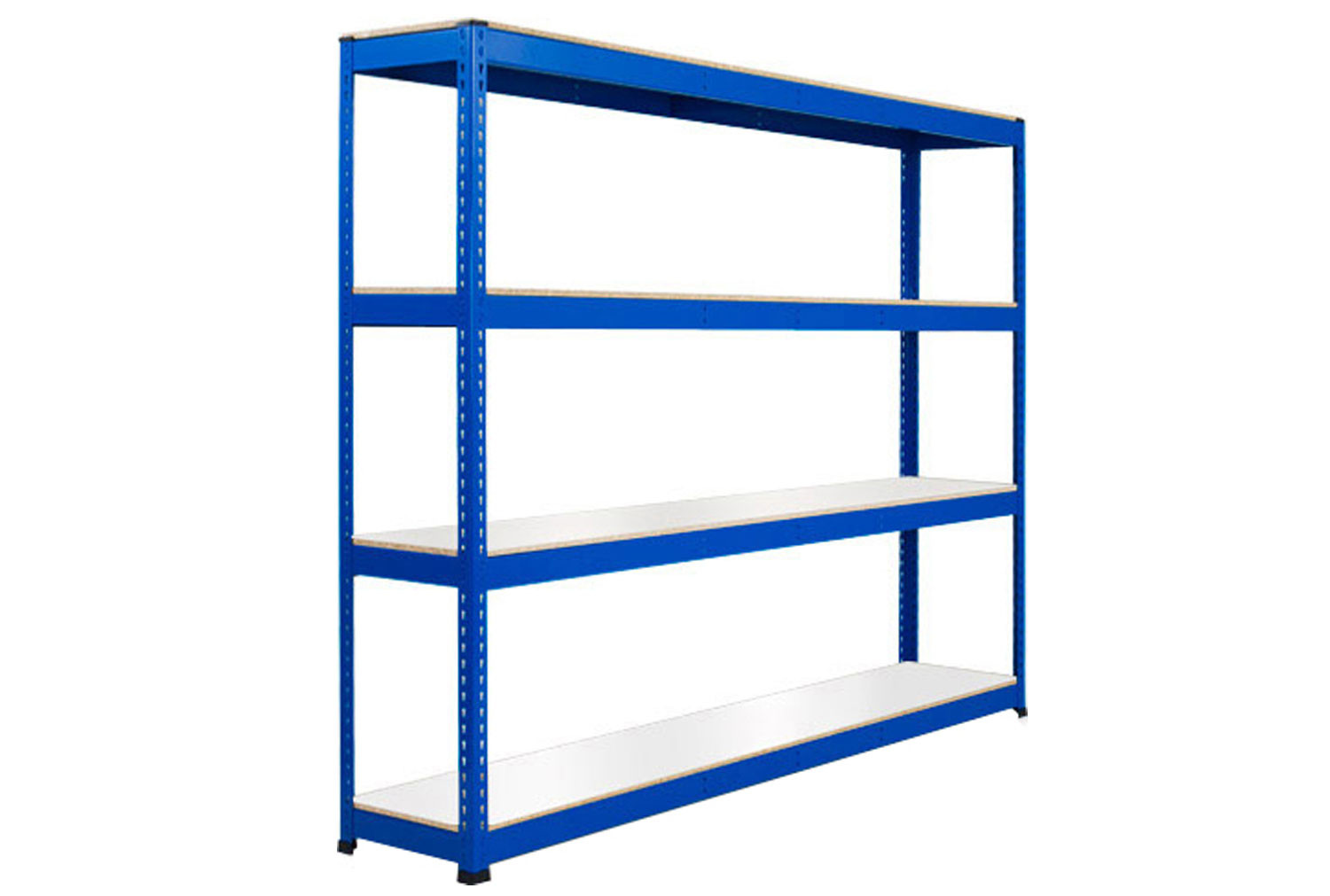 Rapid 1 Heavy Duty Shelving With 4 Melamine Shelves 2440wx1980h (Blue)