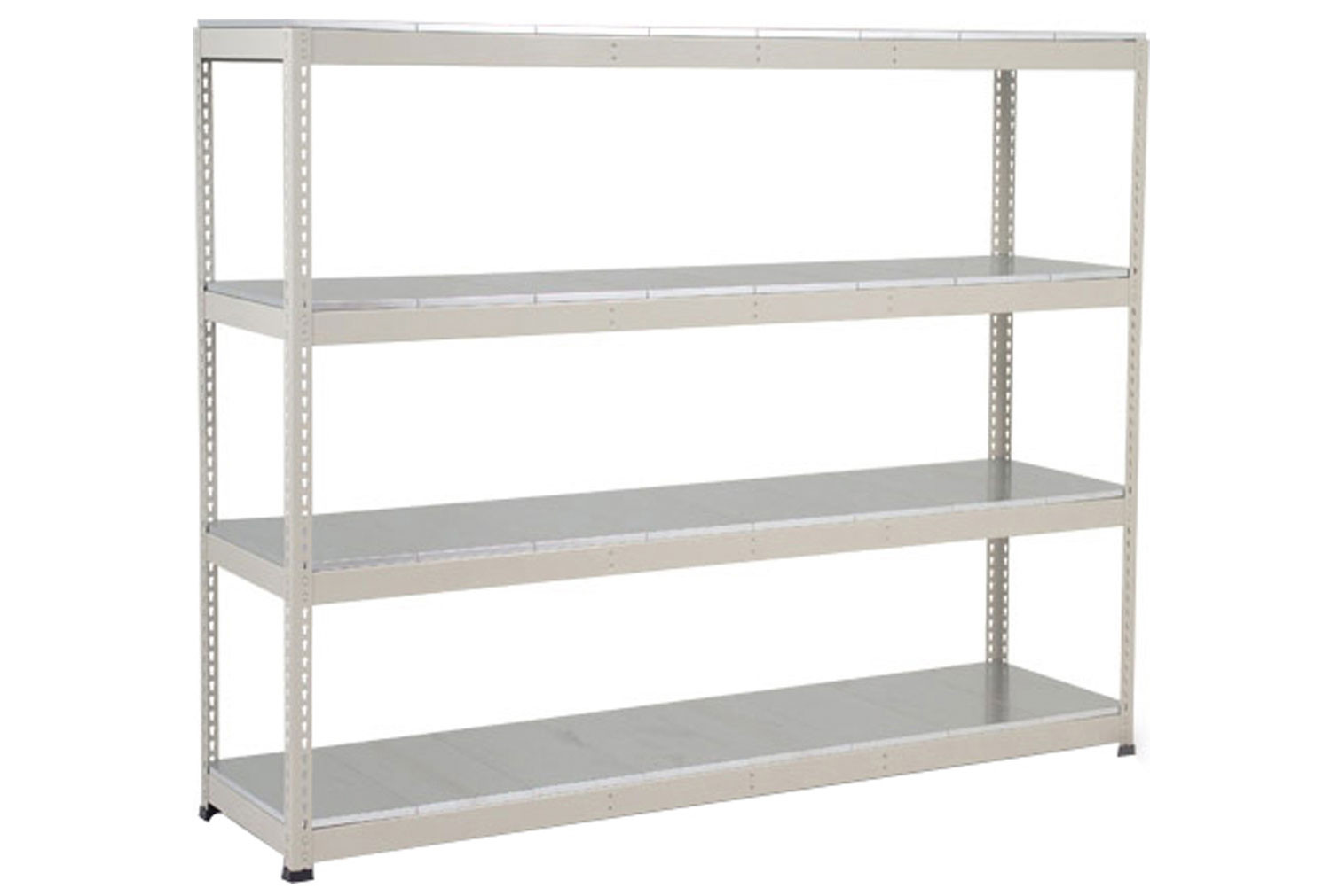 Rapid 1 Heavy Duty Shelving With 4 Galvanized Shelves 2440wx1980h (Grey)