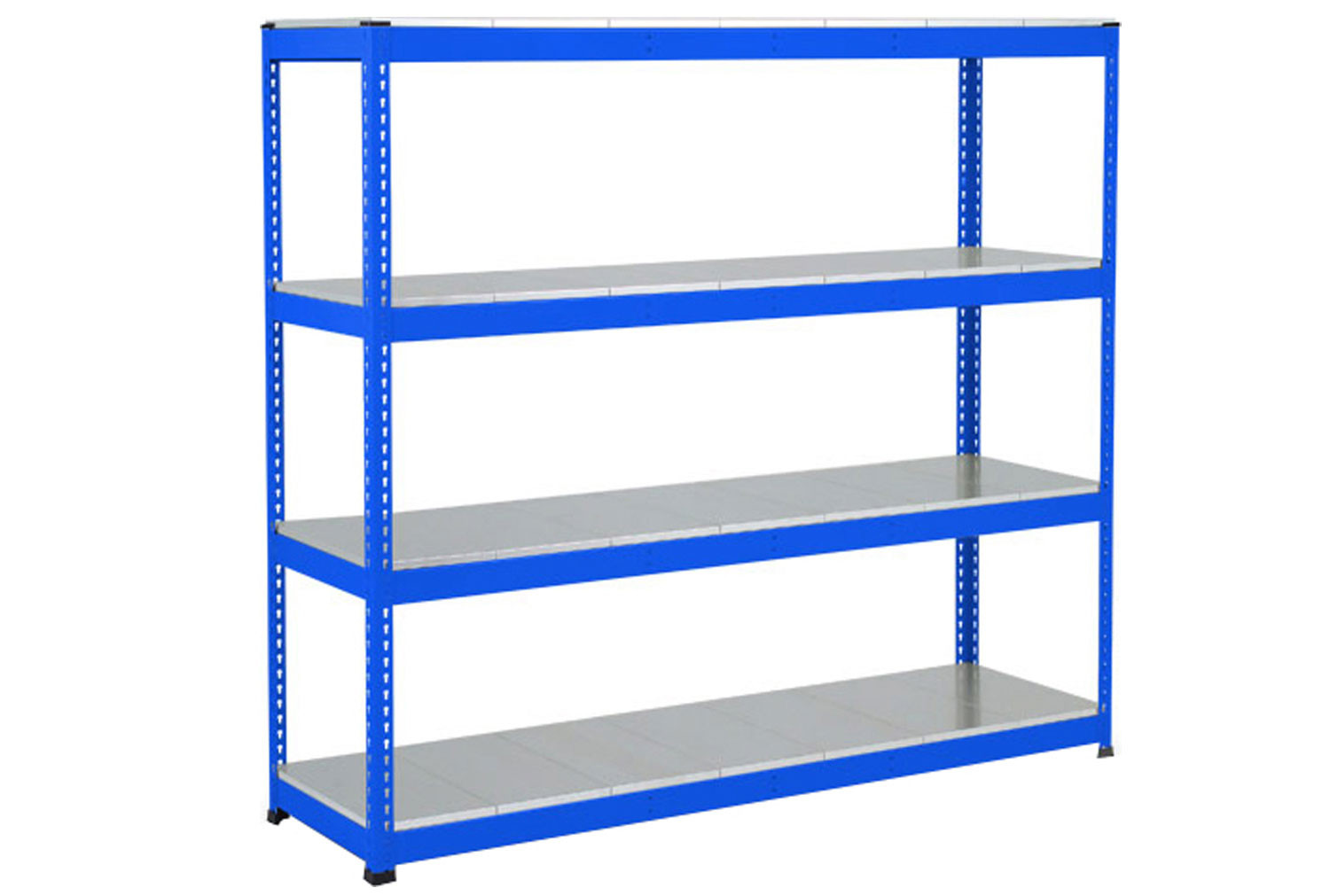 Rapid 1 Heavy Duty Shelving With 4 Galvanized Shelves 1525wx2440h (Blue)