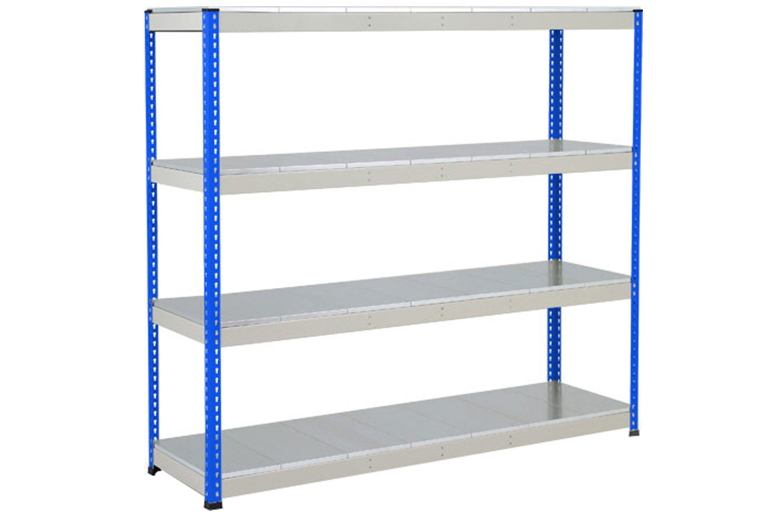 Rapid 1 Heavy Duty Shelving With 4 Galvanized Shelves 1525wx2440h (Blue/Grey)