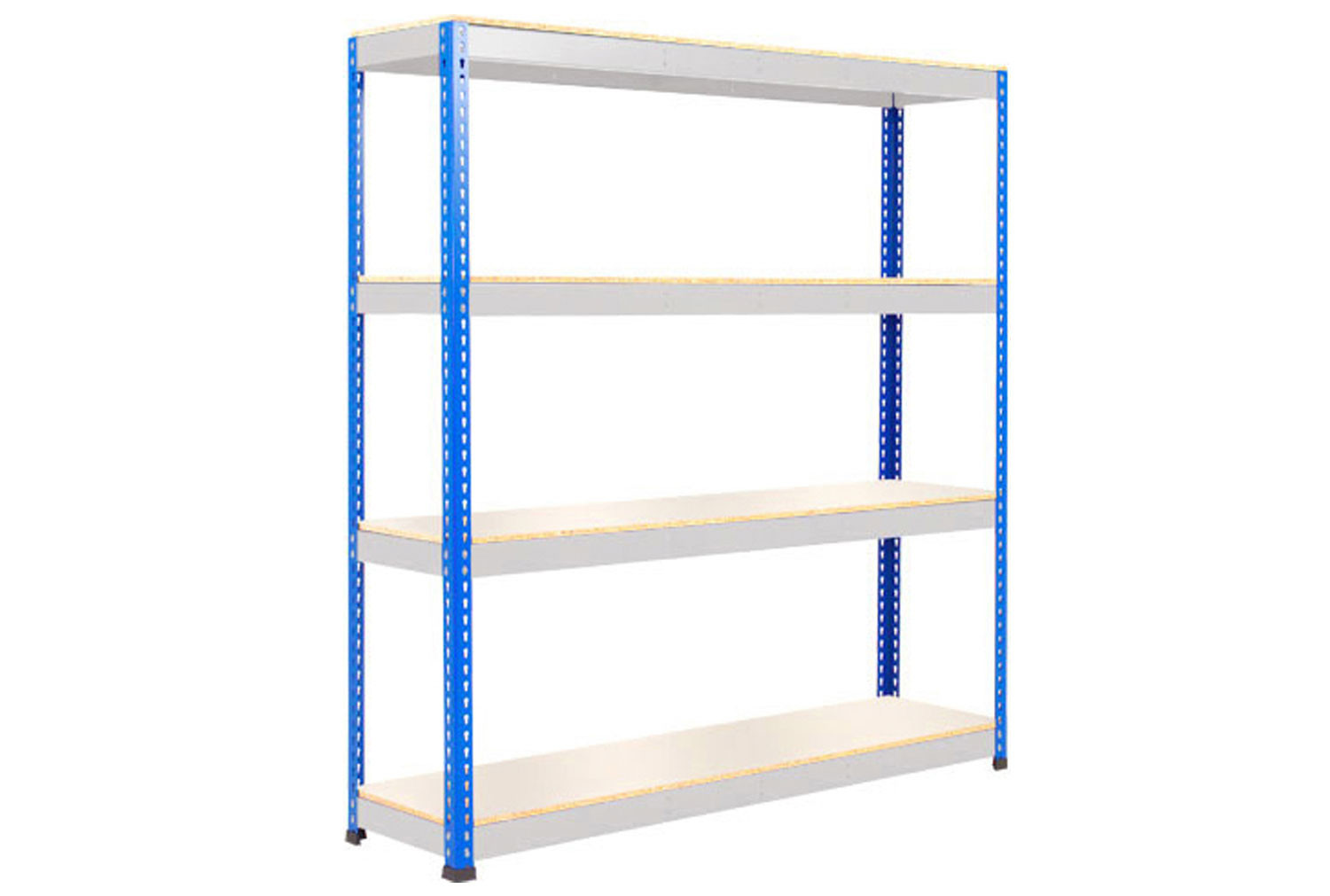 Rapid 1 Heavy Duty Shelving With 4 Melamine Shelves 1525wx2440h (Blue/Grey)