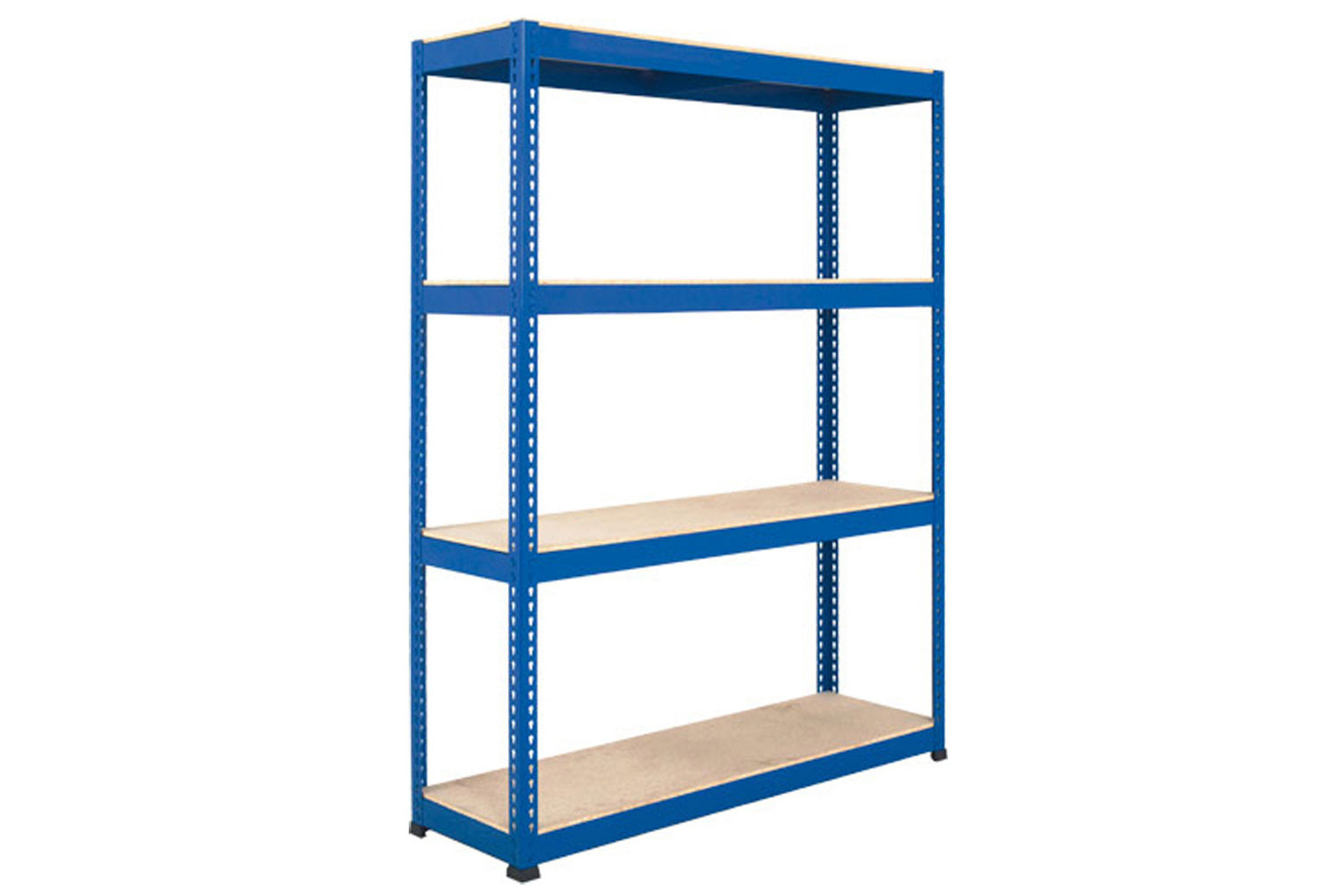 Rapid 1 Heavy Duty Shelving With 4 Chipboard Shelves 1830wx2440h (Blue)