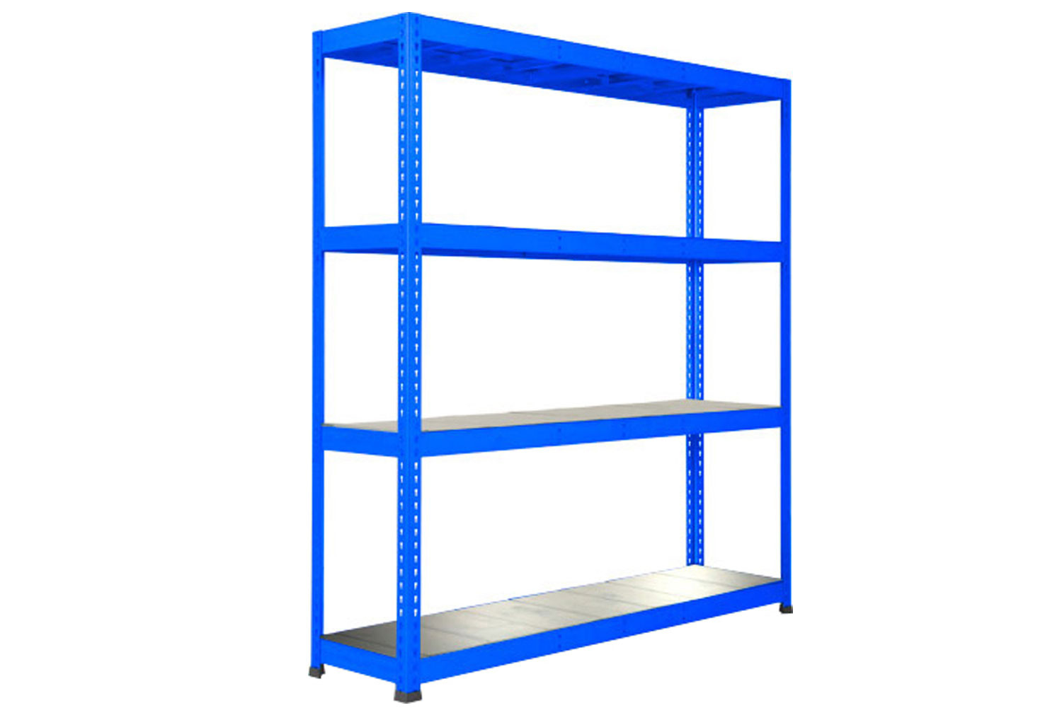 Rapid 1 Heavy Duty Shelving With 4 Galvanized Shelves 1830wx2440h (Blue)