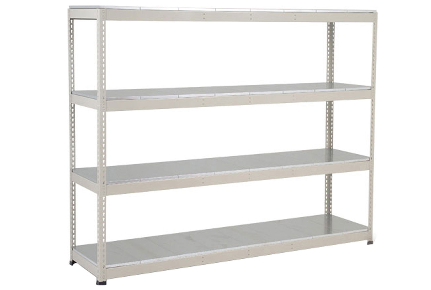 Rapid 1 Heavy Duty Shelving With 4 Galvanized Shelves 2440wx2440h (Grey)