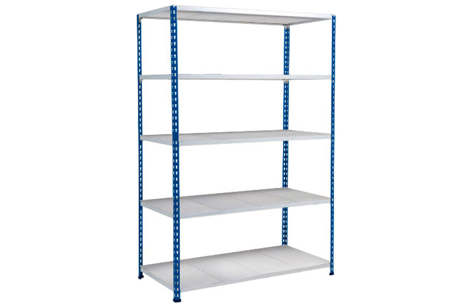 Rapid 2 Shelving With 5 Galvanized Shelves 1220wx1600h (Blue/Grey)