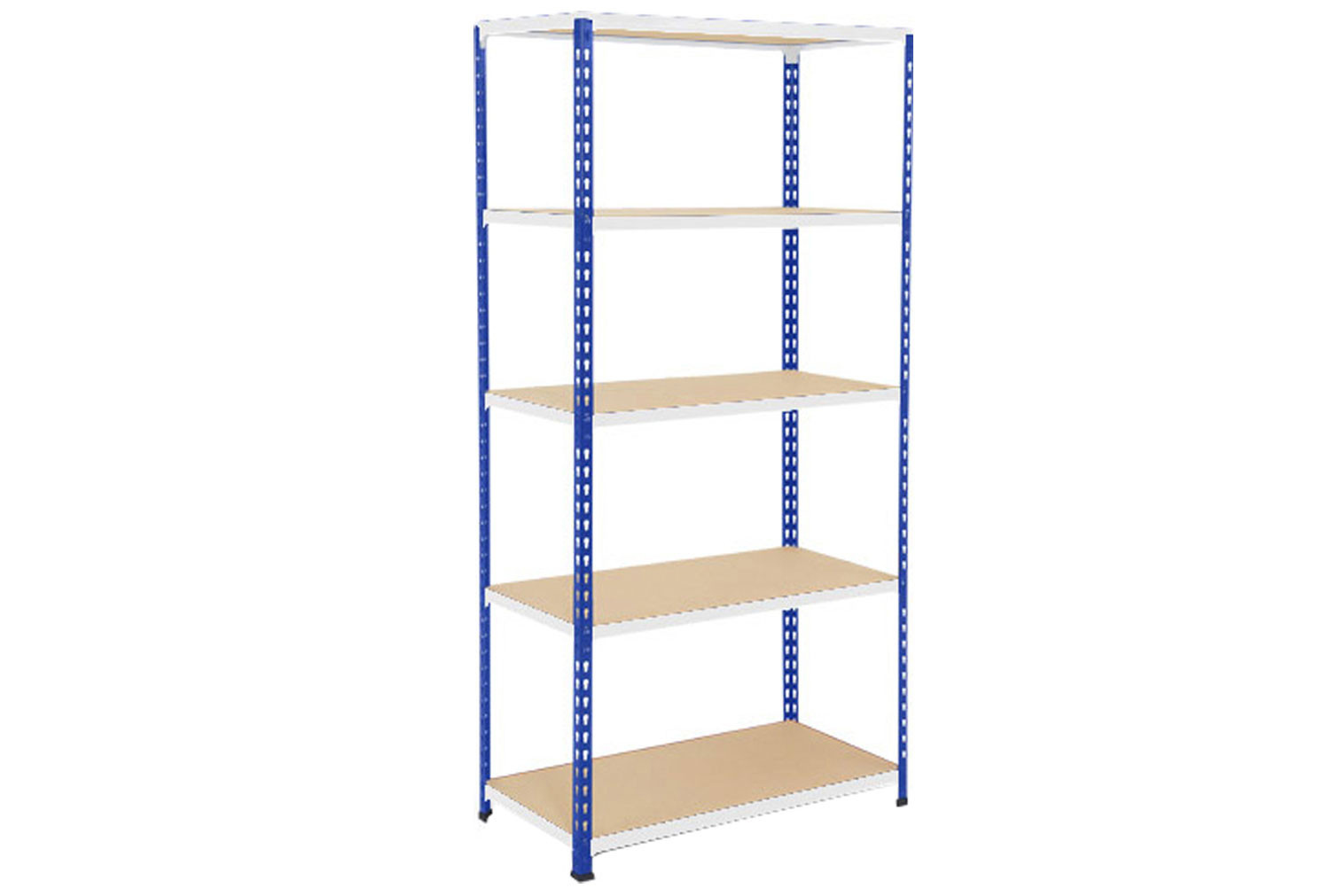 Rapid 2 Shelving With 5 Chipboard Shelves 915wx1600h (Blue/Grey)