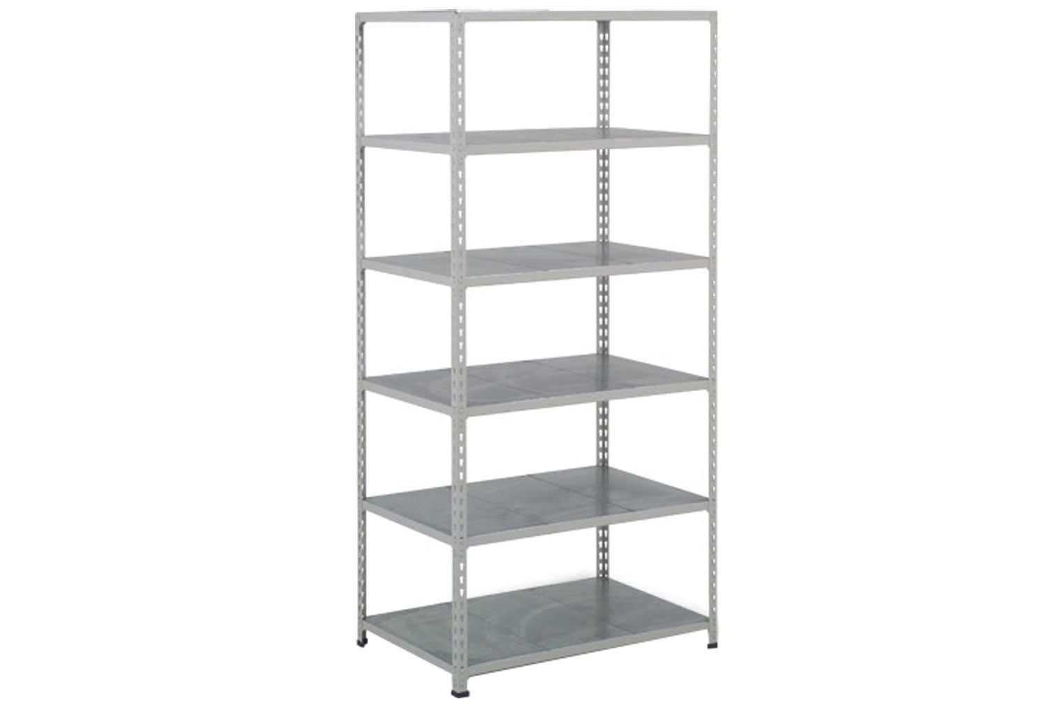 Rapid 2 Shelving With 6 Galvanized Shelves 915Wx1600H (Grey)
