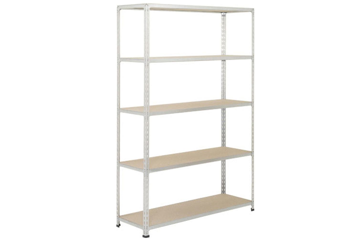 Rapid 2 Shelving With 5 Chipboard Shelves 1220wx1600h (Grey)