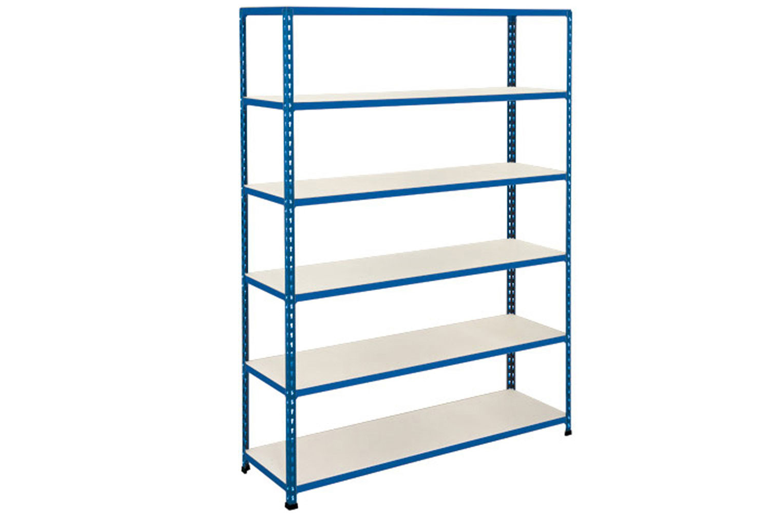 Rapid 2 Shelving With 6 Melamine Shelves 1220wx1600h (Blue)