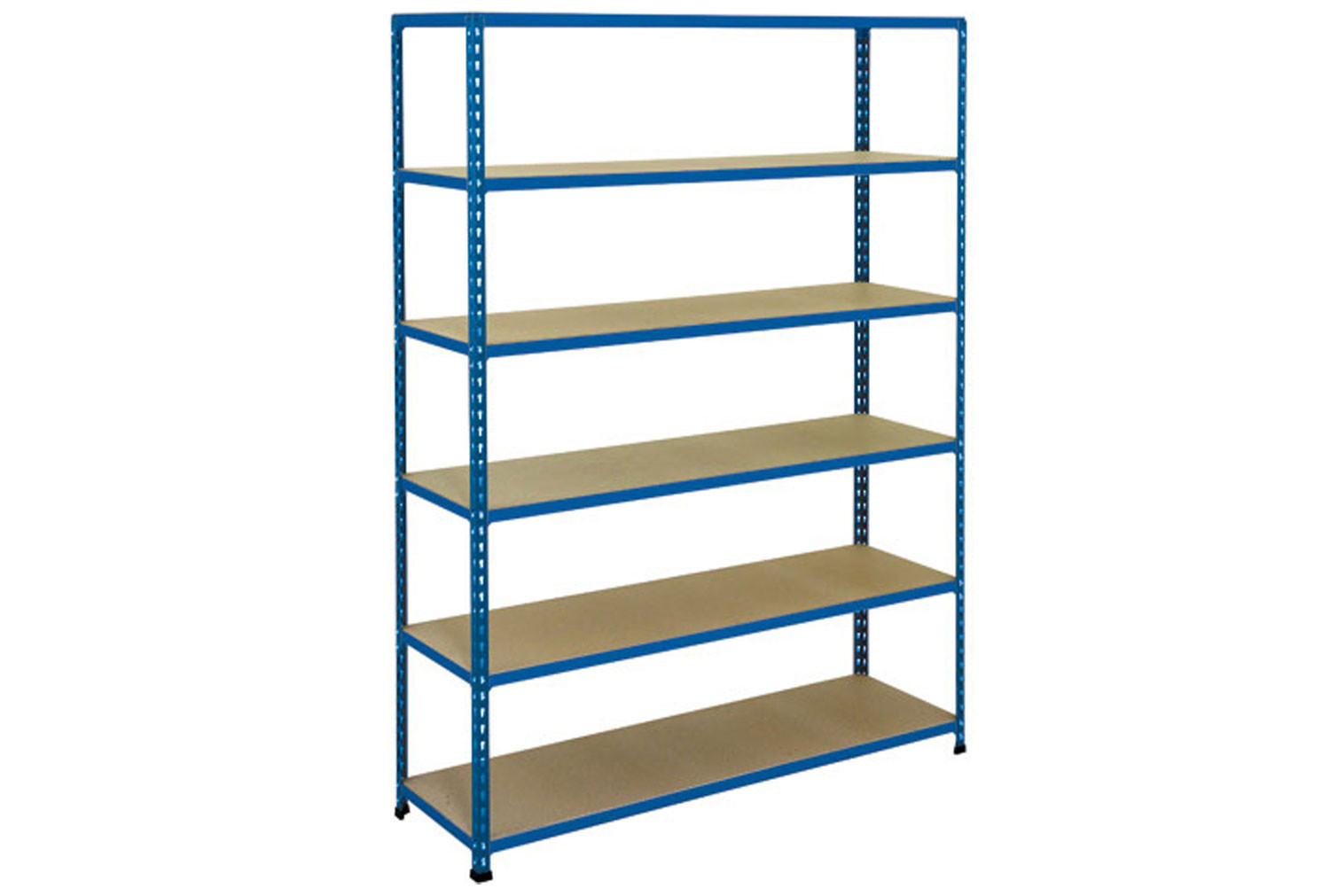 Rapid 2 Shelving With 6 Chipboard Shelves 1525wx1600h (Blue)