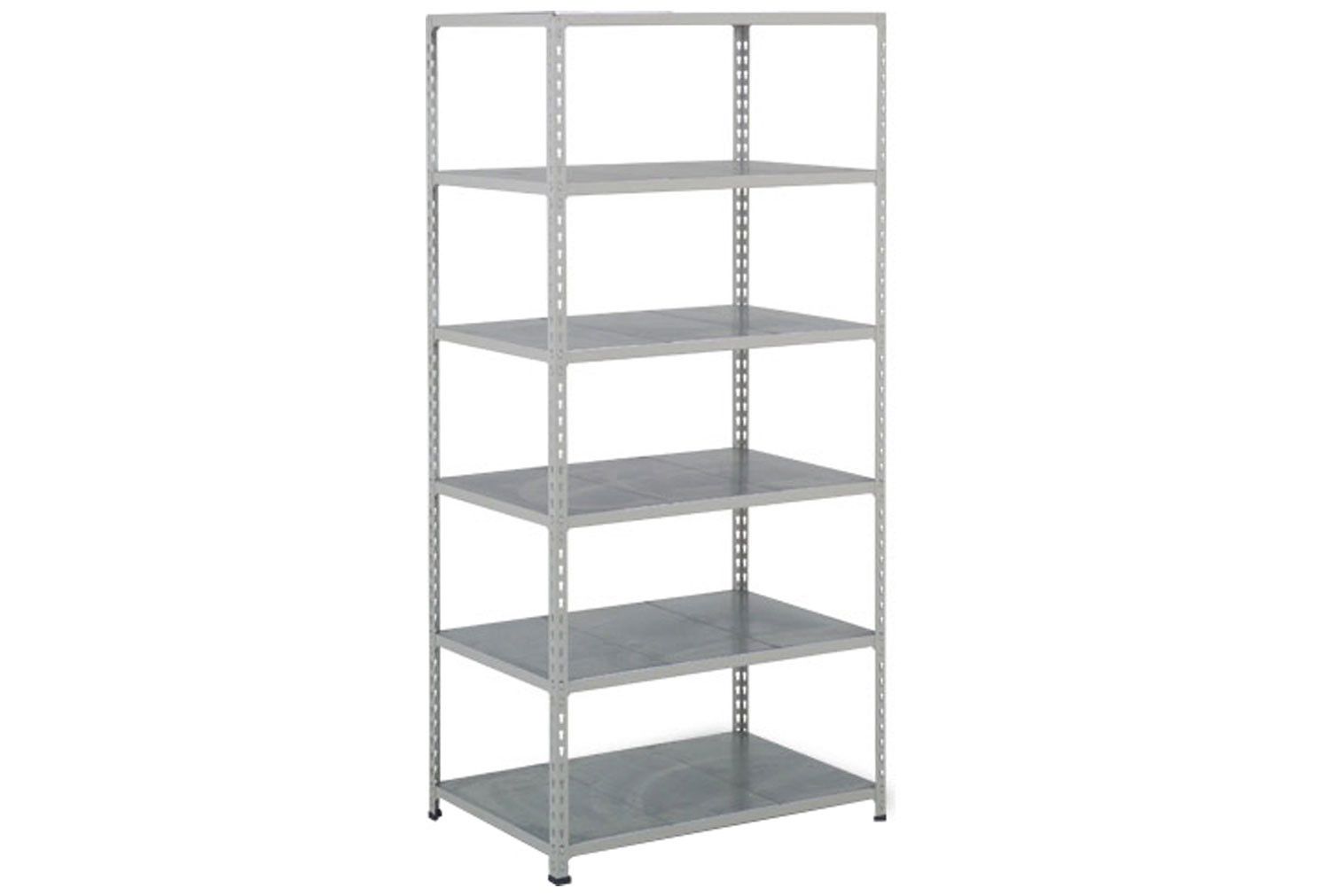 Rapid 2 Shelving With 6 Galvanized Shelves 915wx1980h (Grey)