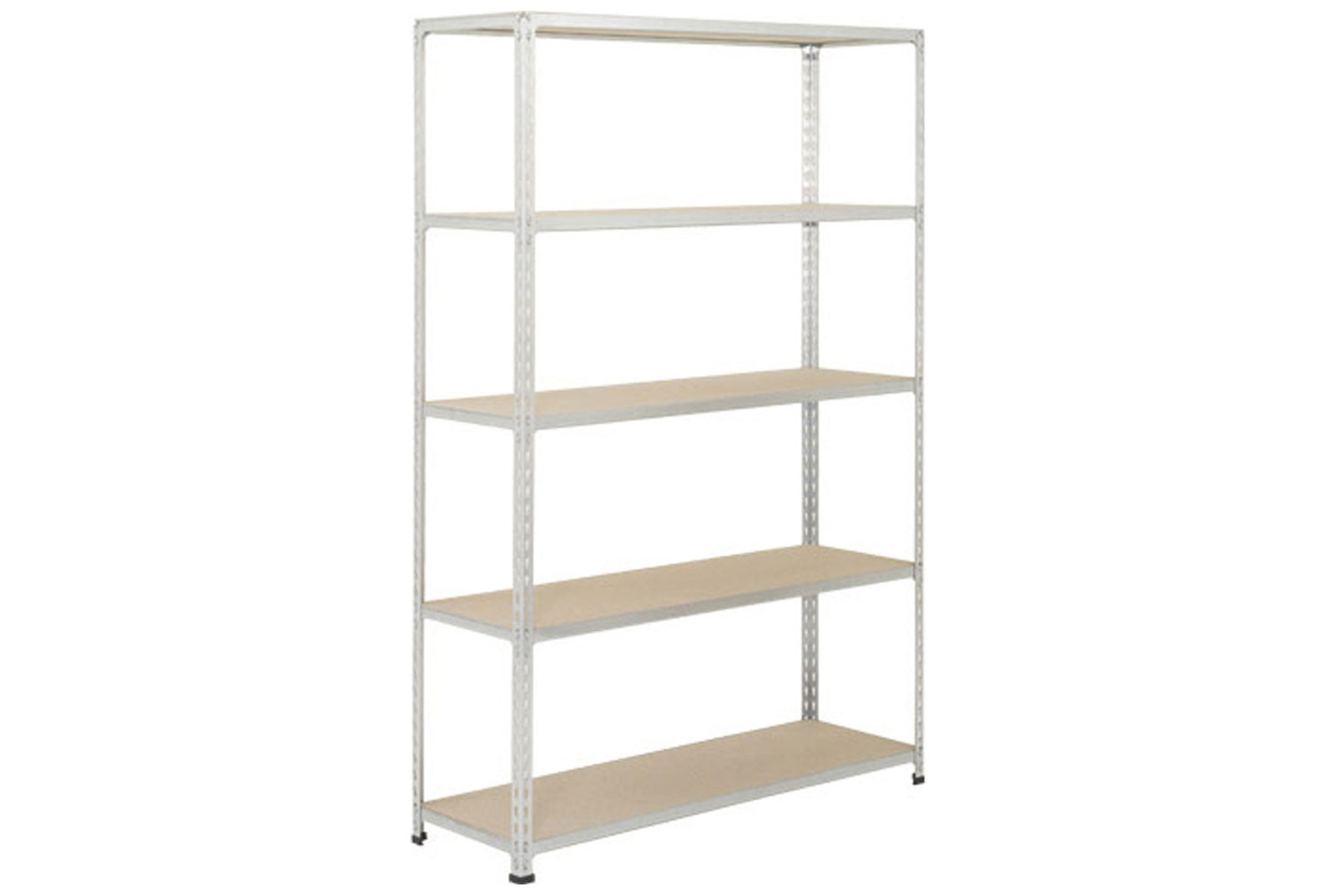 Rapid 2 Shelving With 5 Chipboard Shelves 1220wx1980h (Grey)