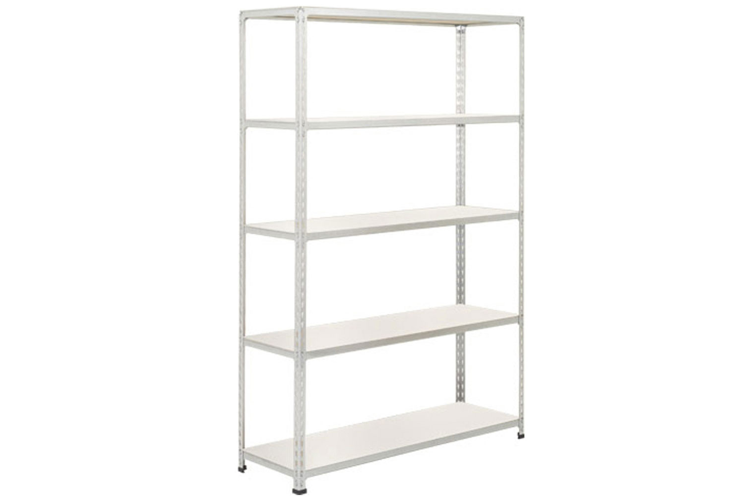 Rapid 2 Shelving With 5 Melamine Shelves 1525wx1600h (Grey)