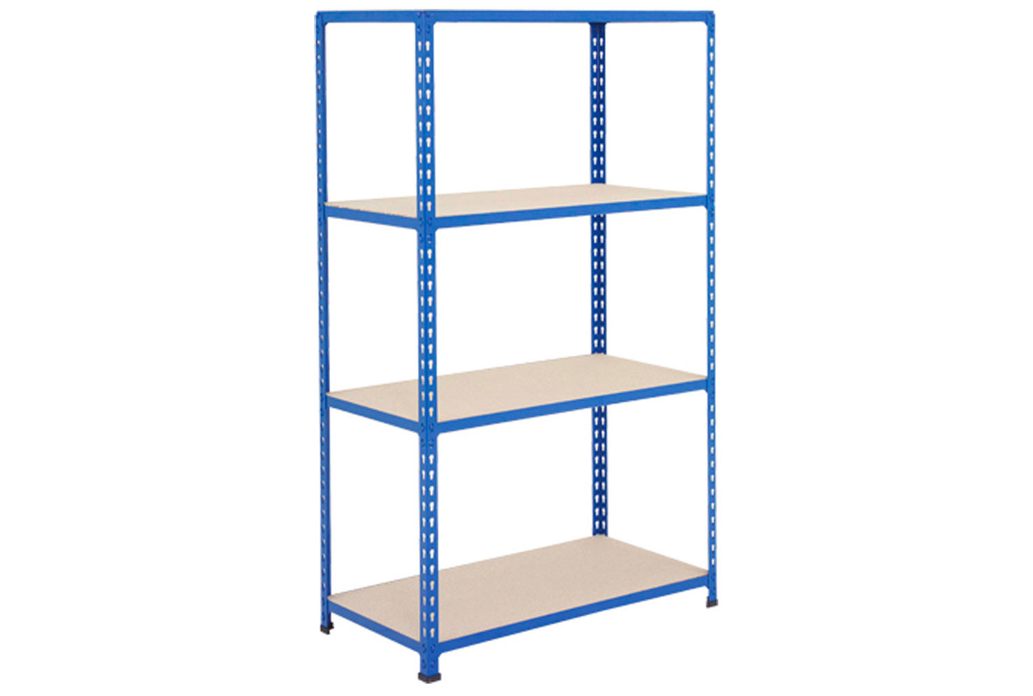 Rapid 2 Shelving With 4 Chipboard Shelves 1220wx1980h (Blue)
