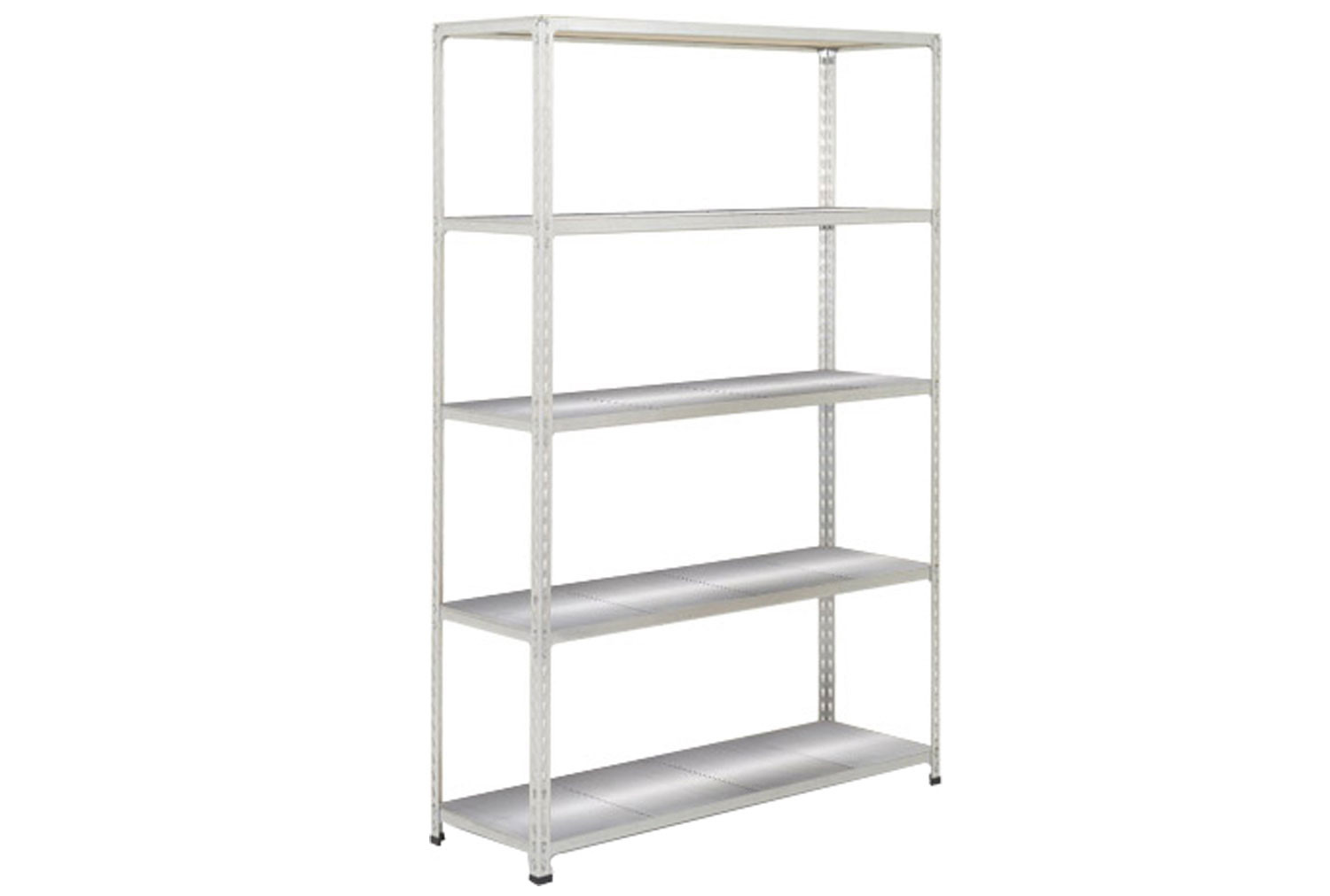 Rapid 2 Shelving With 5 Galvanized Shelves 1220wx1600h (Grey)