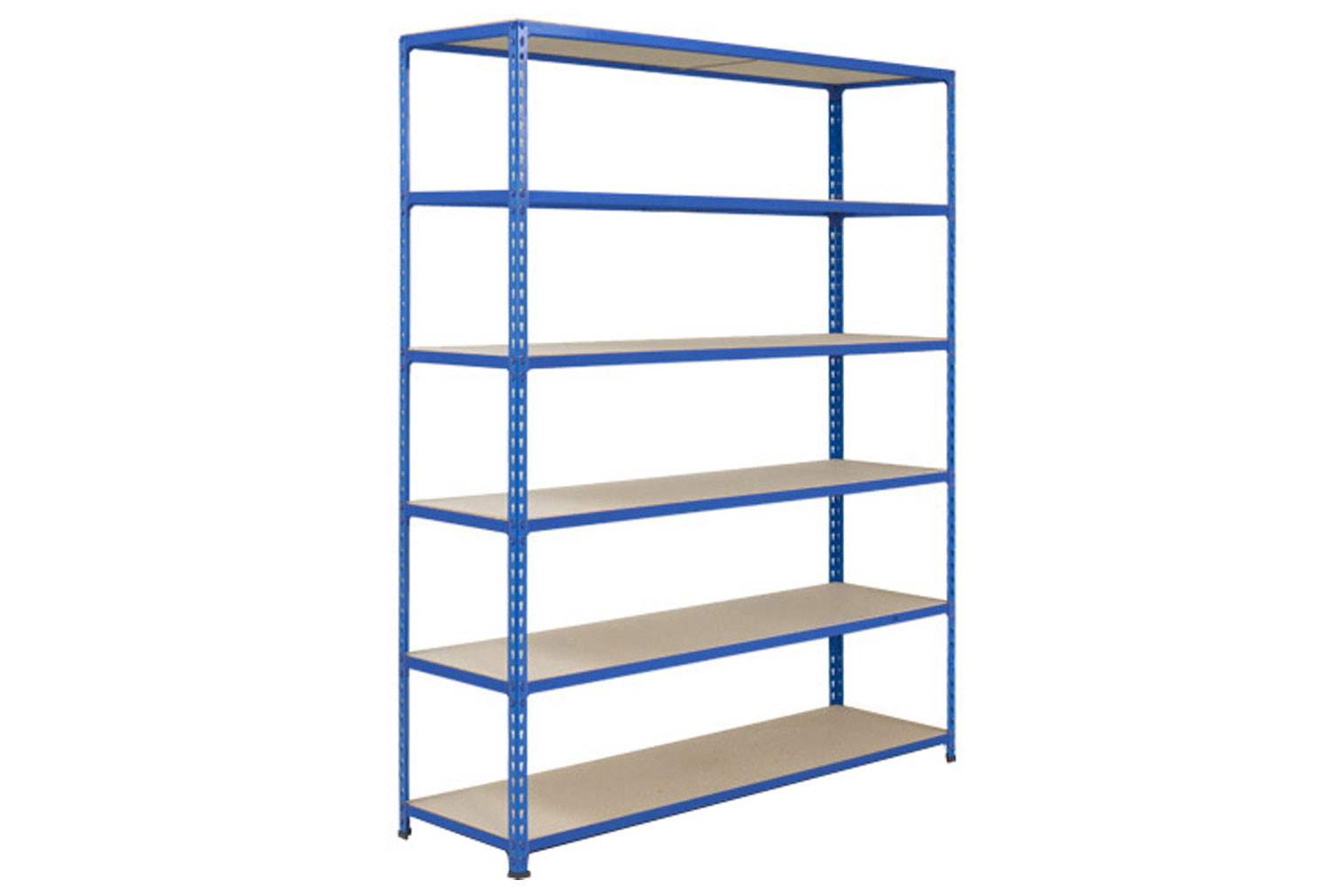Rapid 2 Shelving With 6 Chipboard Shelves 1525wx1980h (Blue)