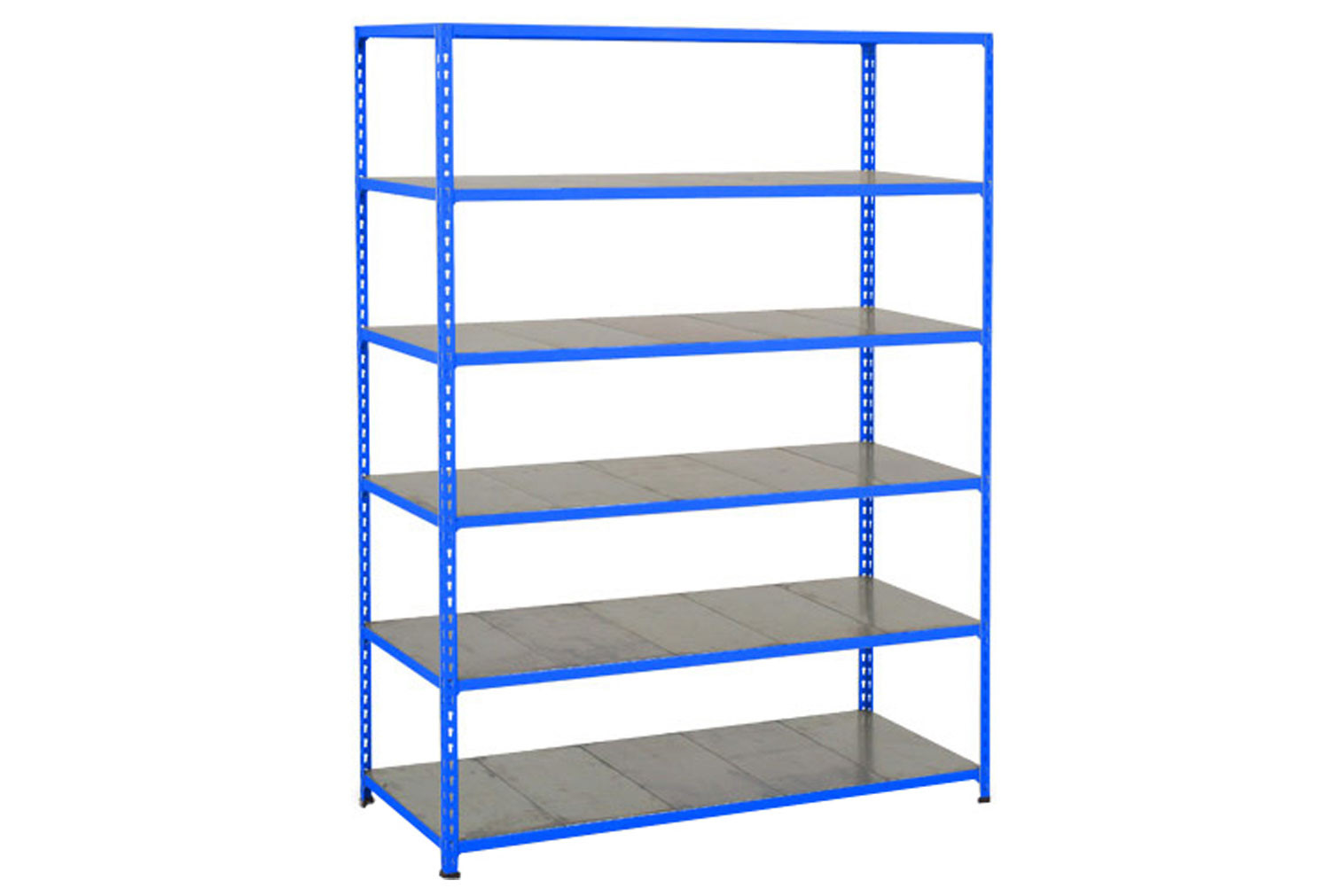 Rapid 2 Shelving With 6 Galvanized Shelves 1220wx1980h (Blue)